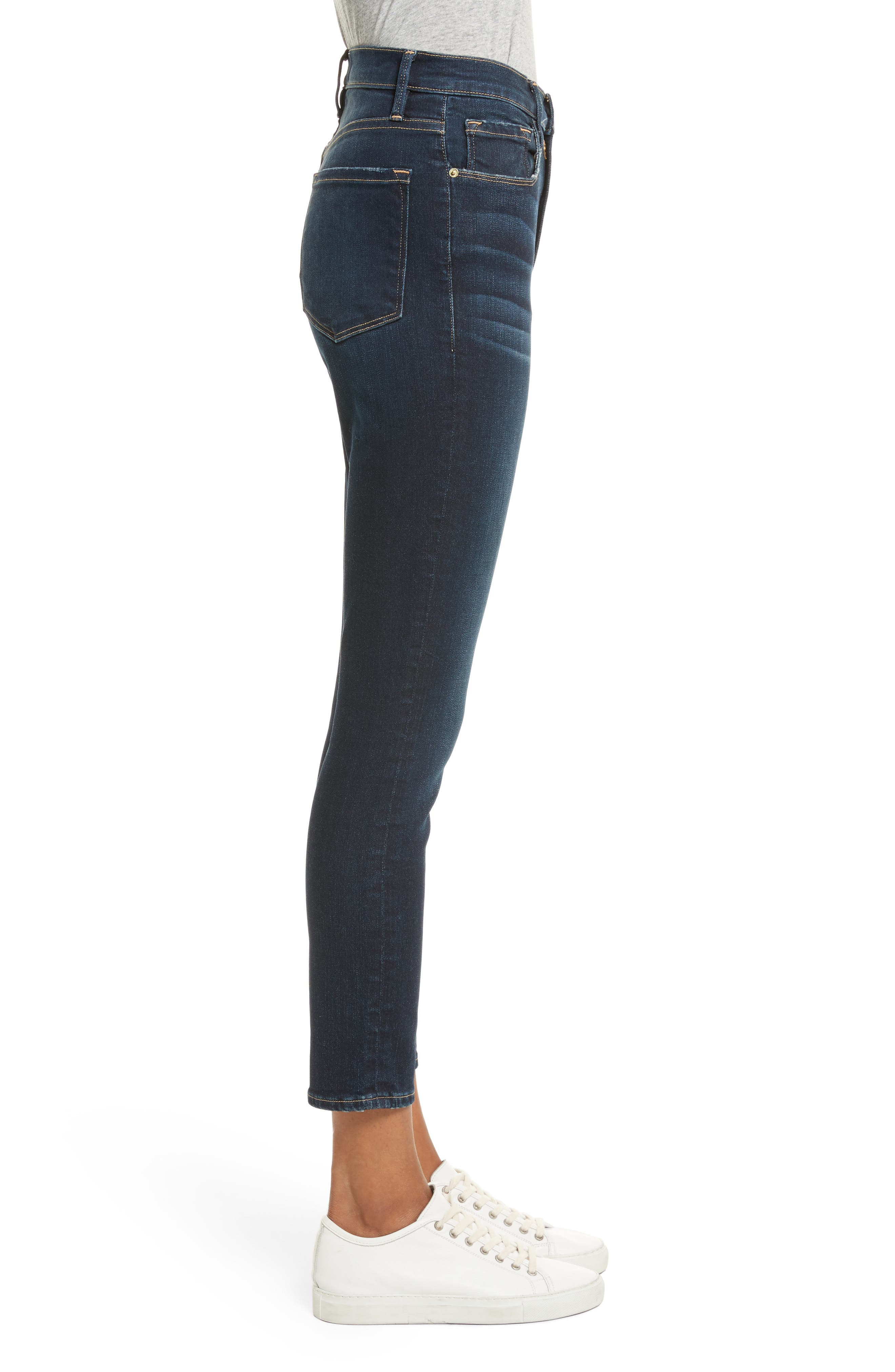 Ali High Waist Ankle Skinny Jeans,                             Alternate thumbnail 3, color,                             Cabana Exclusive
