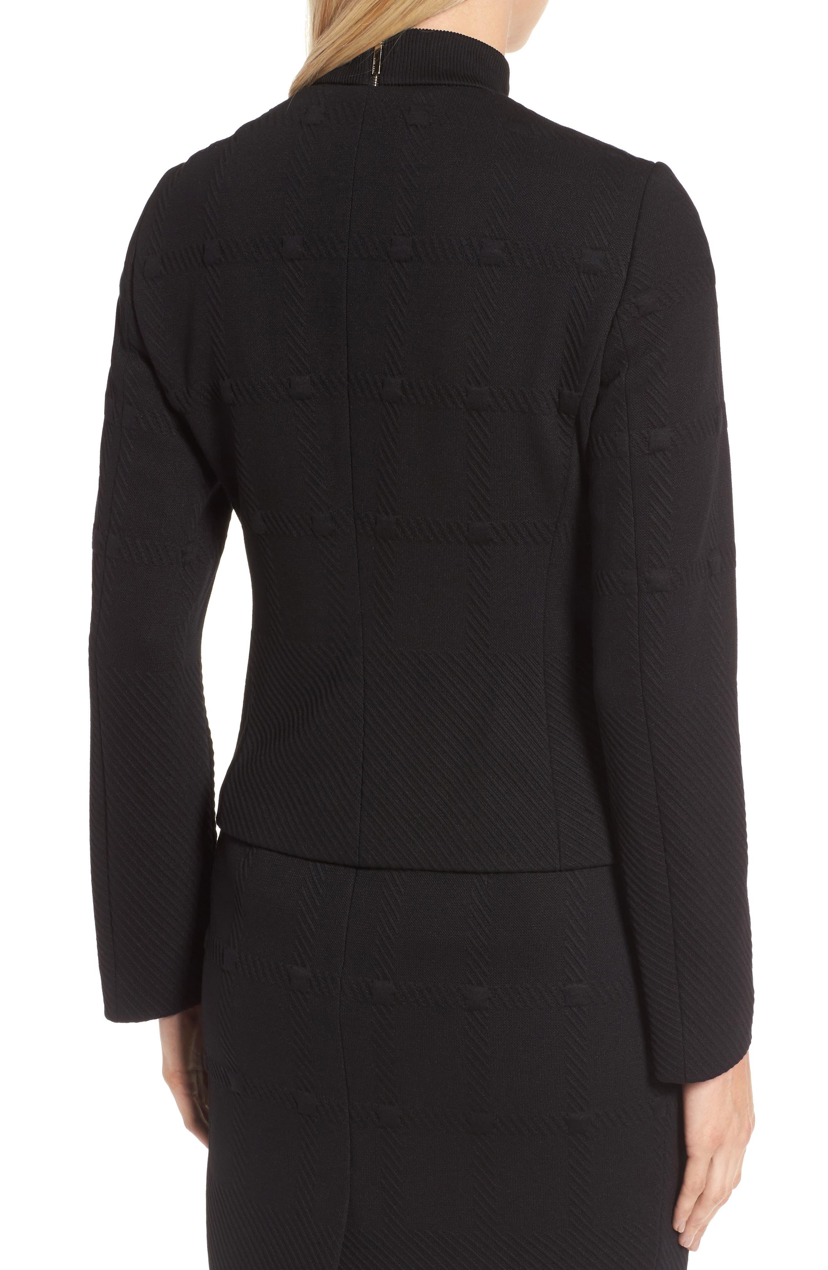 Kanelli Jacquard Jacket,                             Alternate thumbnail 3, color,                             Black