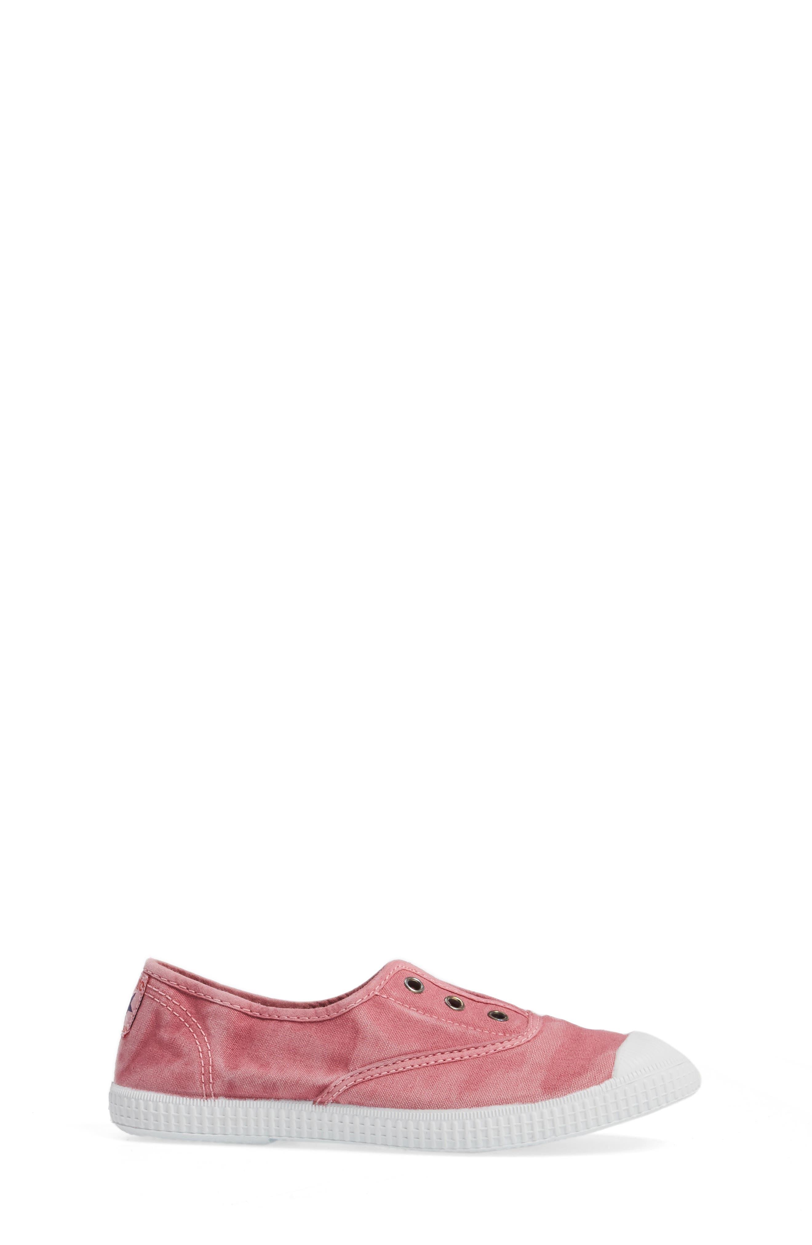 Laceless Slip-On Sneaker,                             Alternate thumbnail 3, color,                             Pink
