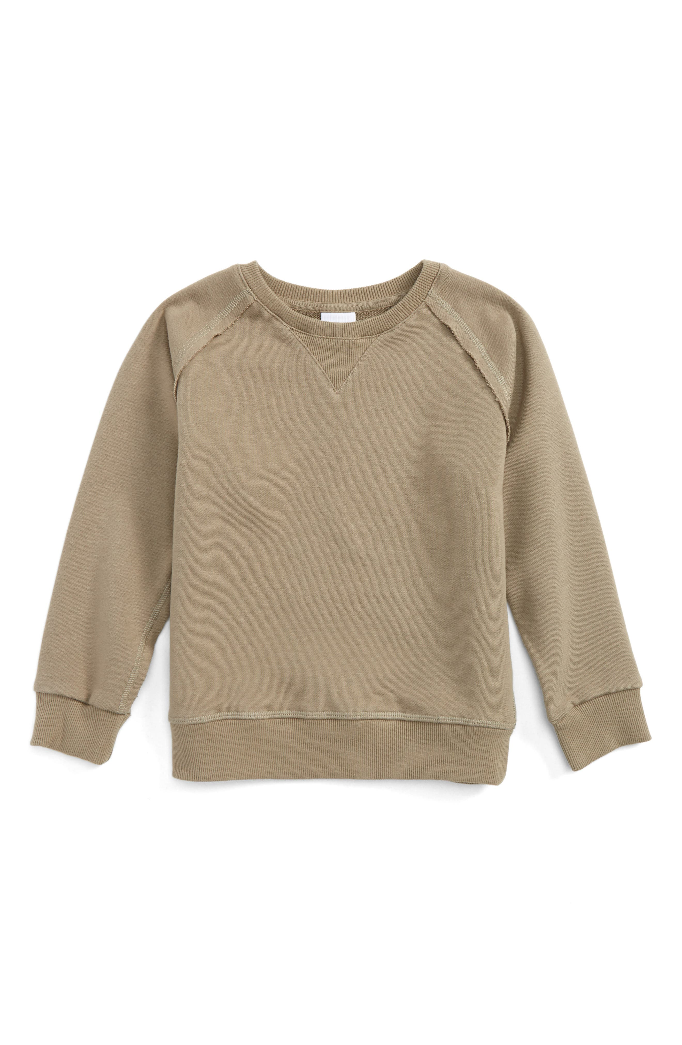 Alternate Image 1 Selected - Superism Raglan Sleeve Sweatshirt (Toddler Boys & Little Boys)