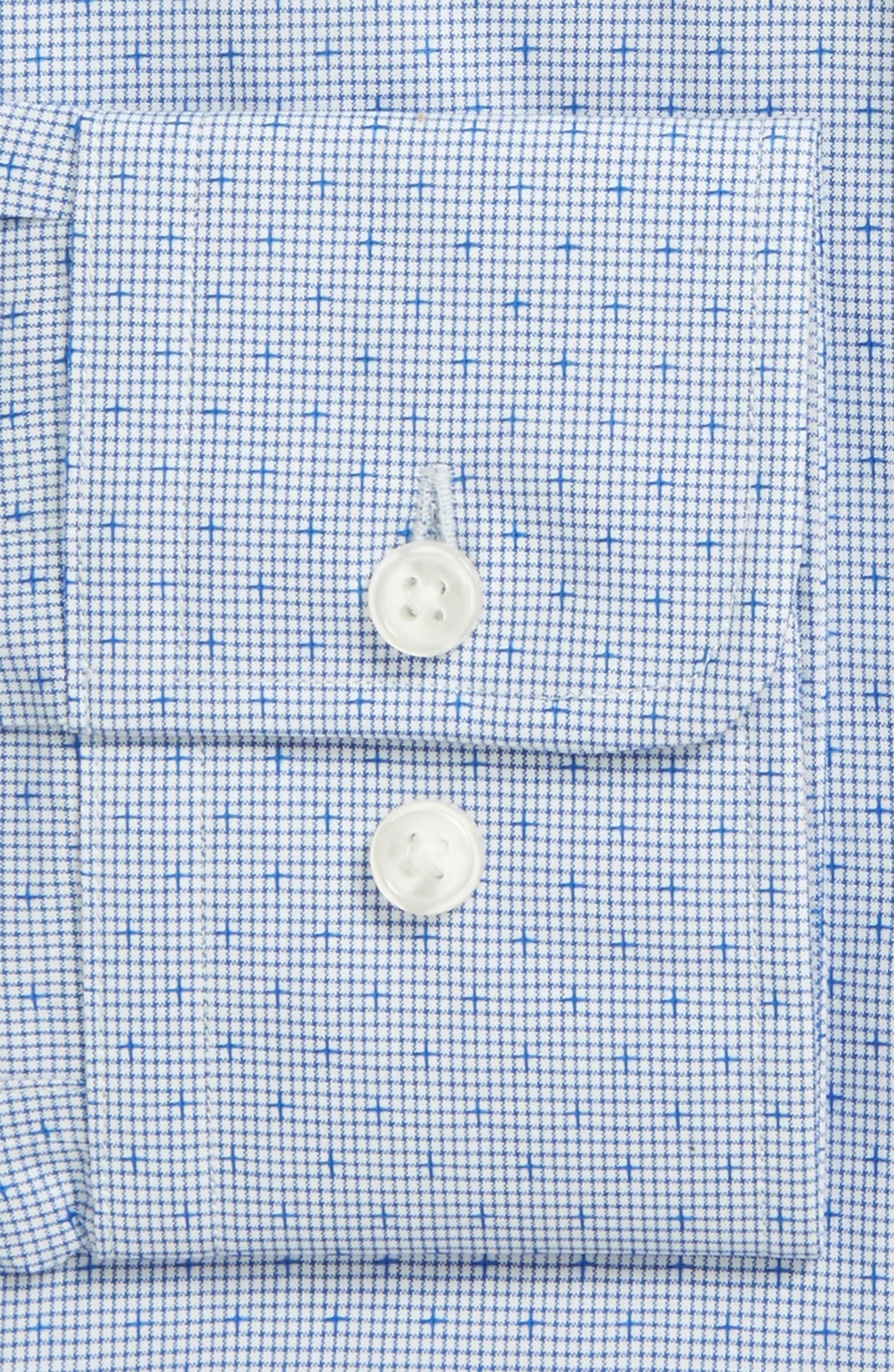 Mark Sharp Fit Dobby Dress Shirt,                             Alternate thumbnail 2, color,                             Medium Blue