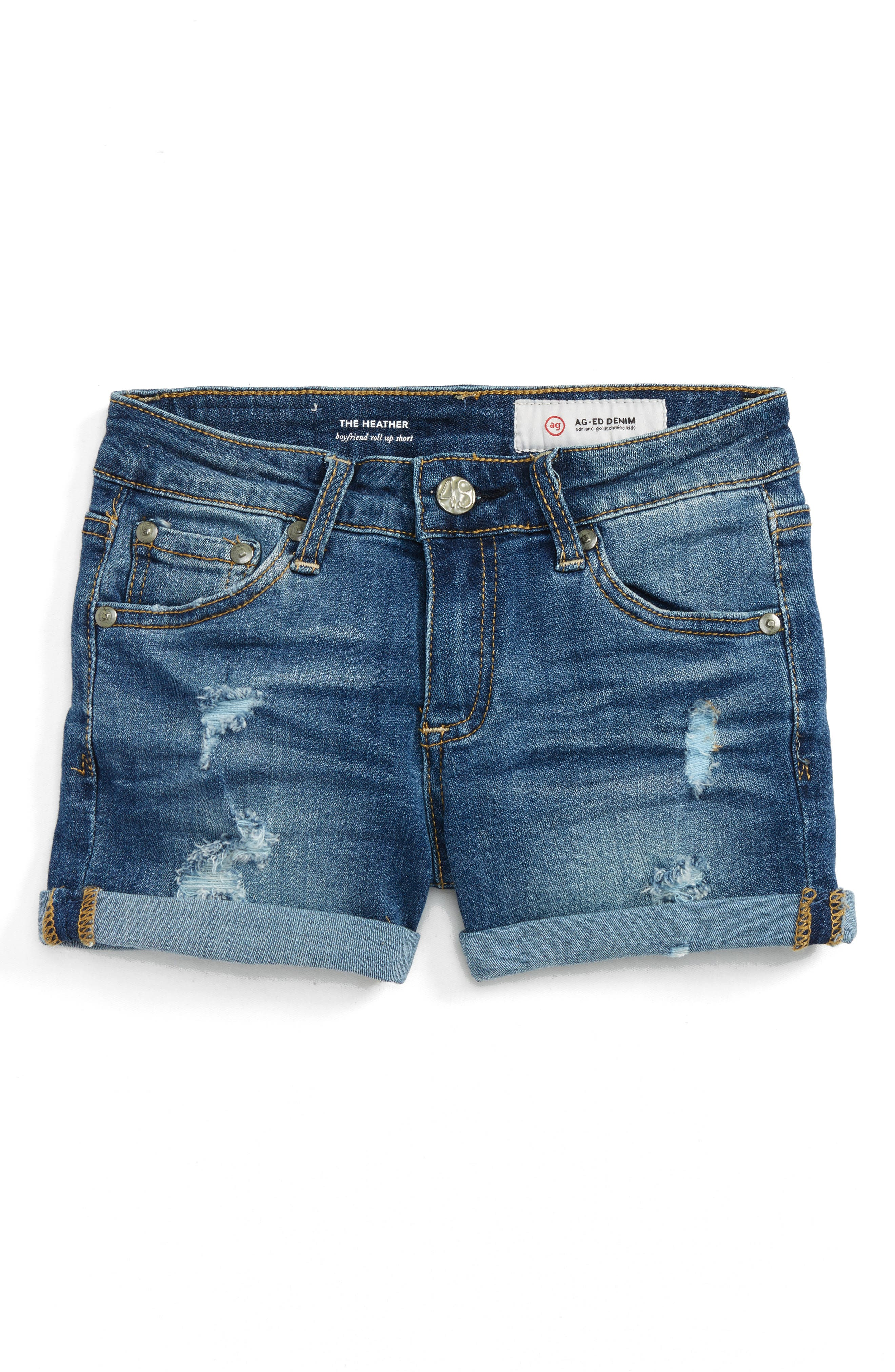 ag adriano goldschmied kids The Heather Roll Cuff Shorts (Big Girls)