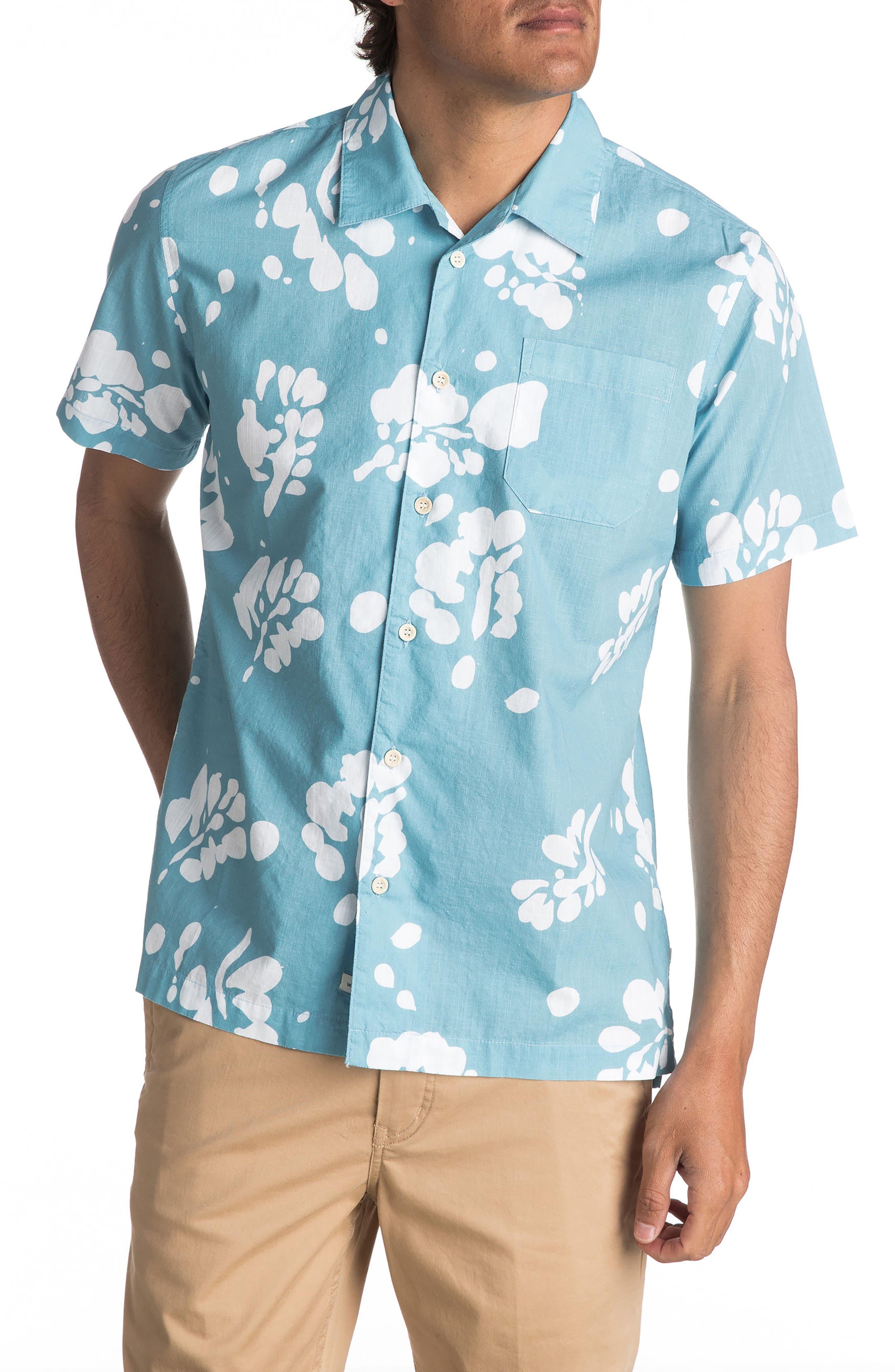 Los Palmas Woven Shirt,                         Main,                         color, Air Blue