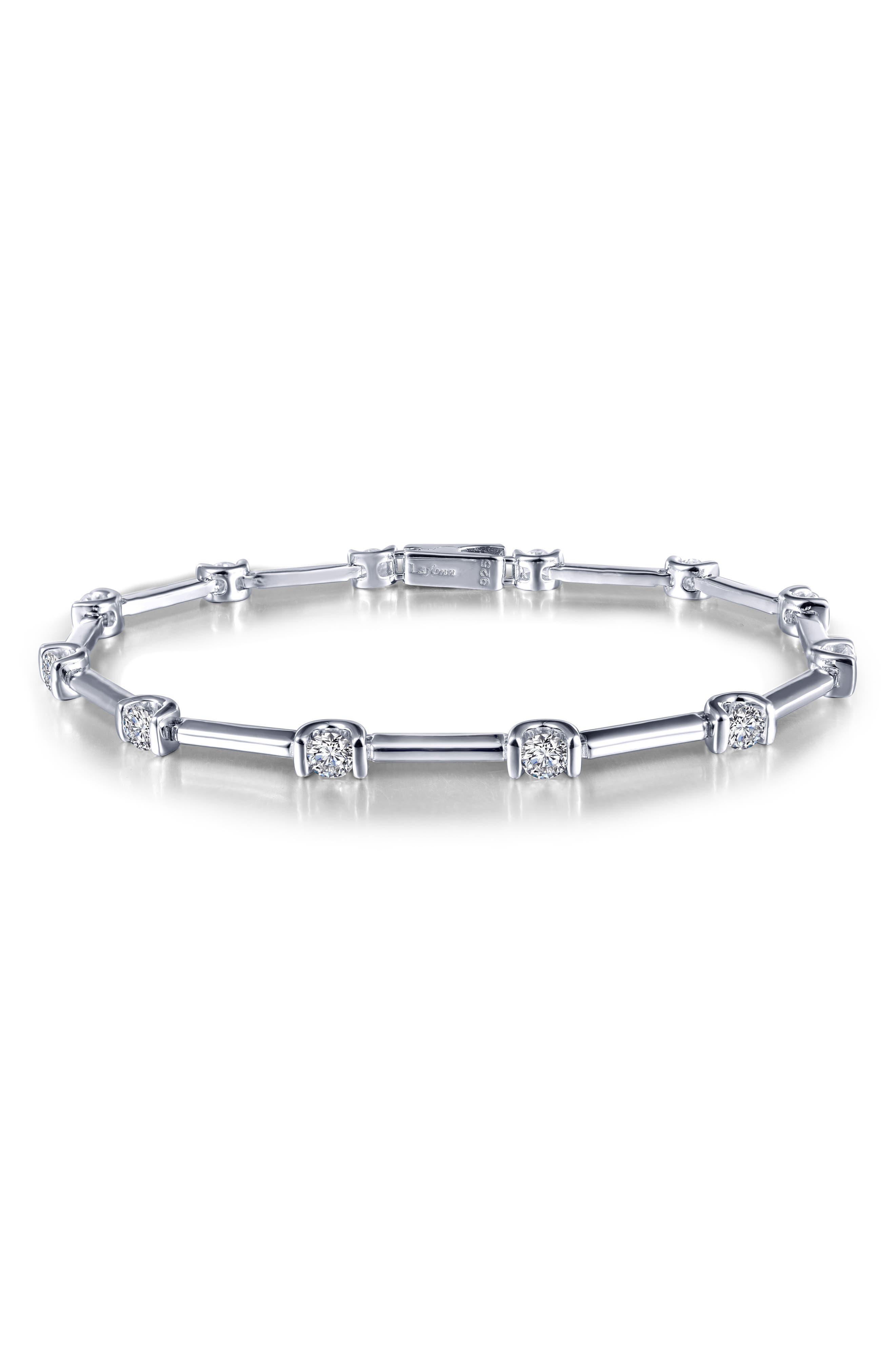 Simulated Diamond Bracelet,                             Main thumbnail 1, color,                             Silver/ Clear