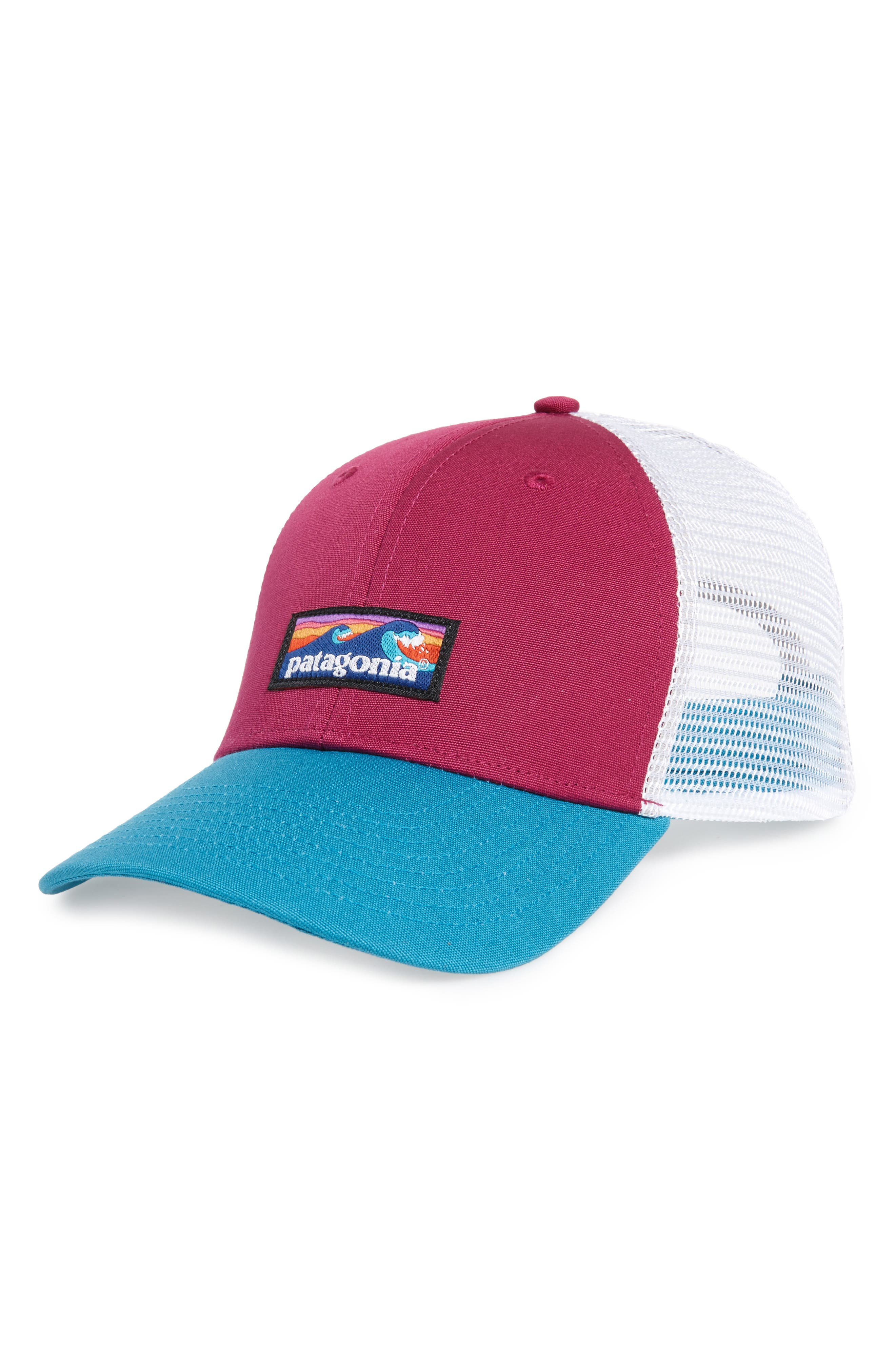 Board Short Trucker Hat,                         Main,                         color, Magenta