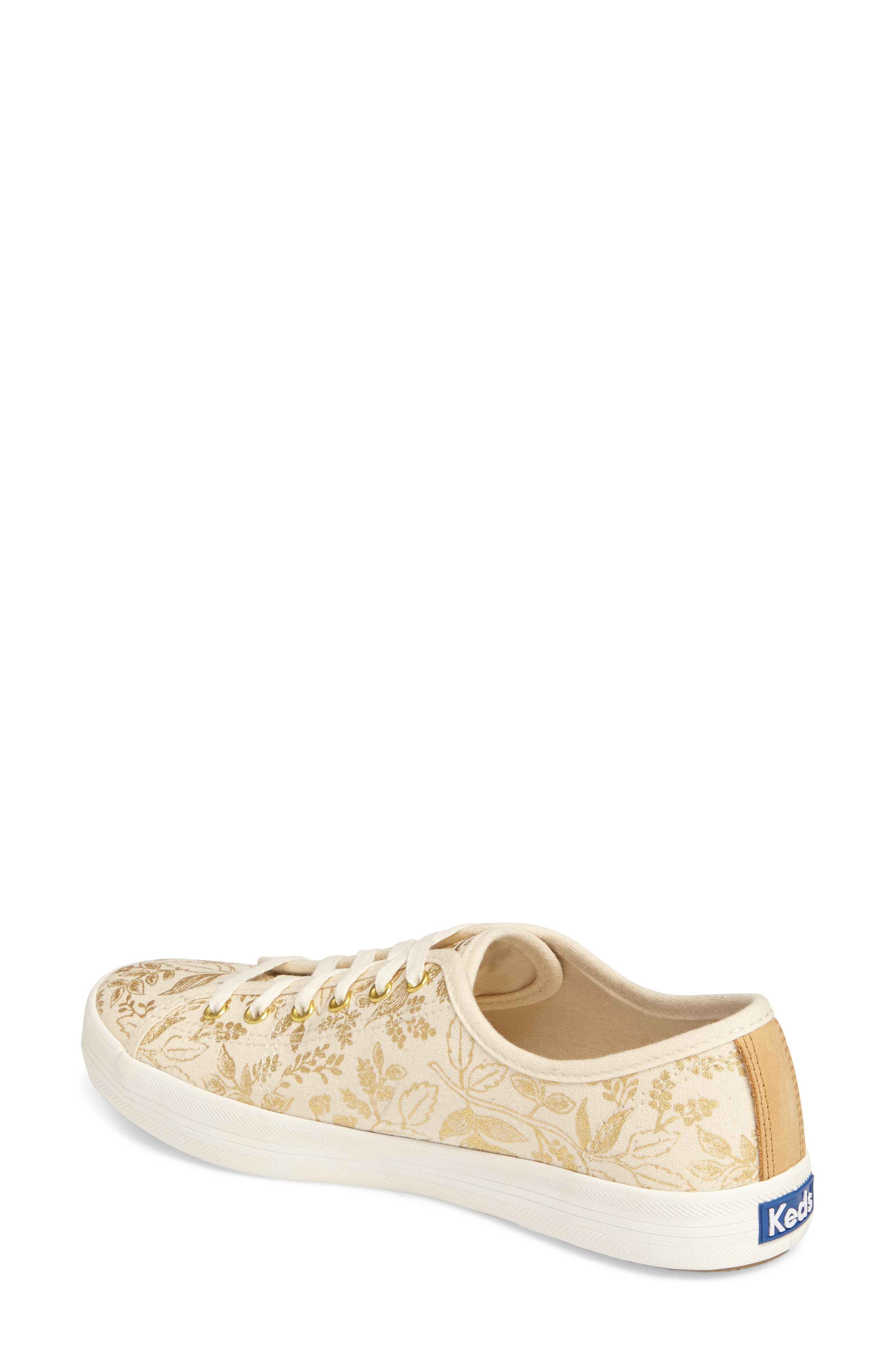 x Rifle Paper Co. Queen Anne Sneaker,                             Alternate thumbnail 2, color,                             Natural