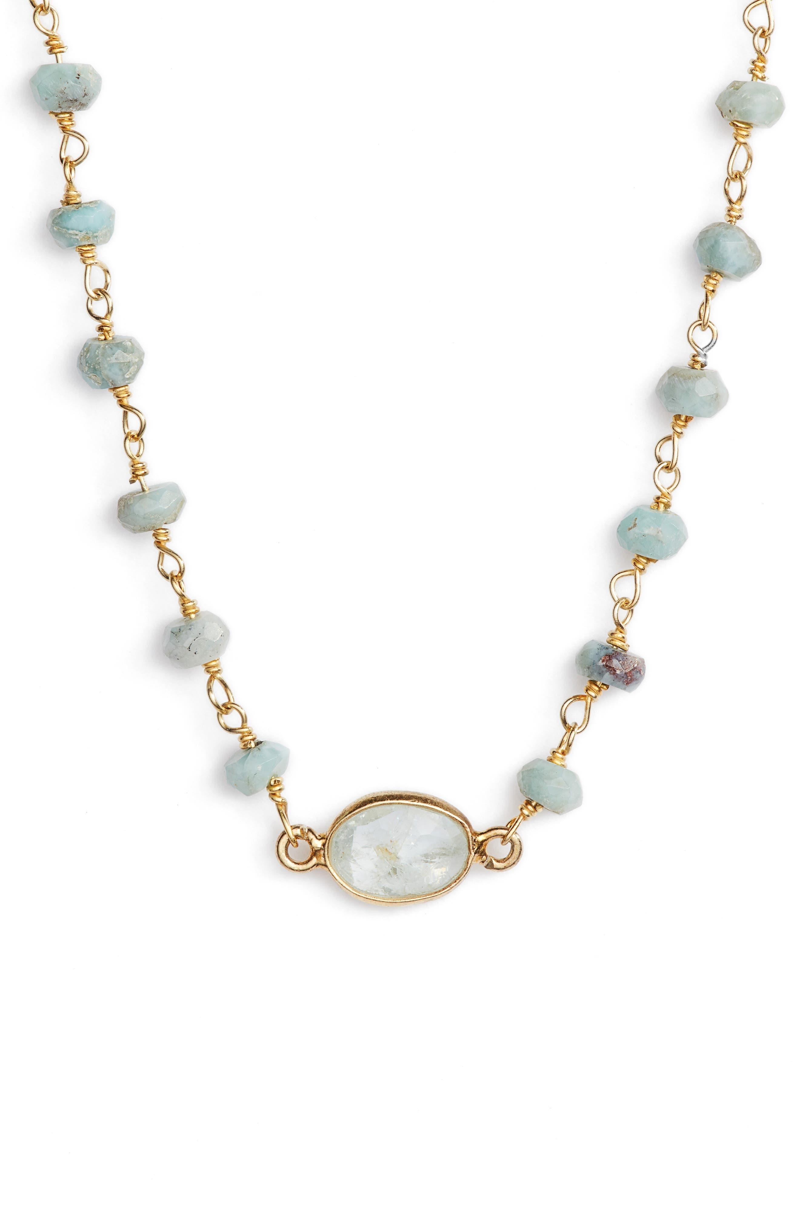 Alternate Image 1 Selected - ela rae Semiprecious Stone Collar Necklace