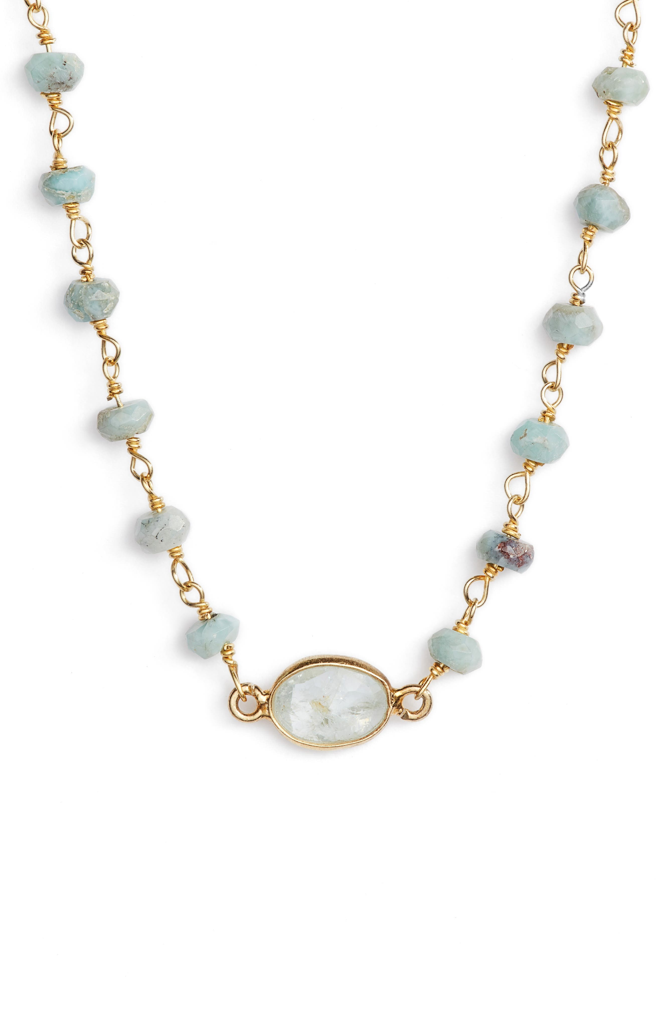 Main Image - ela rae Semiprecious Stone Collar Necklace
