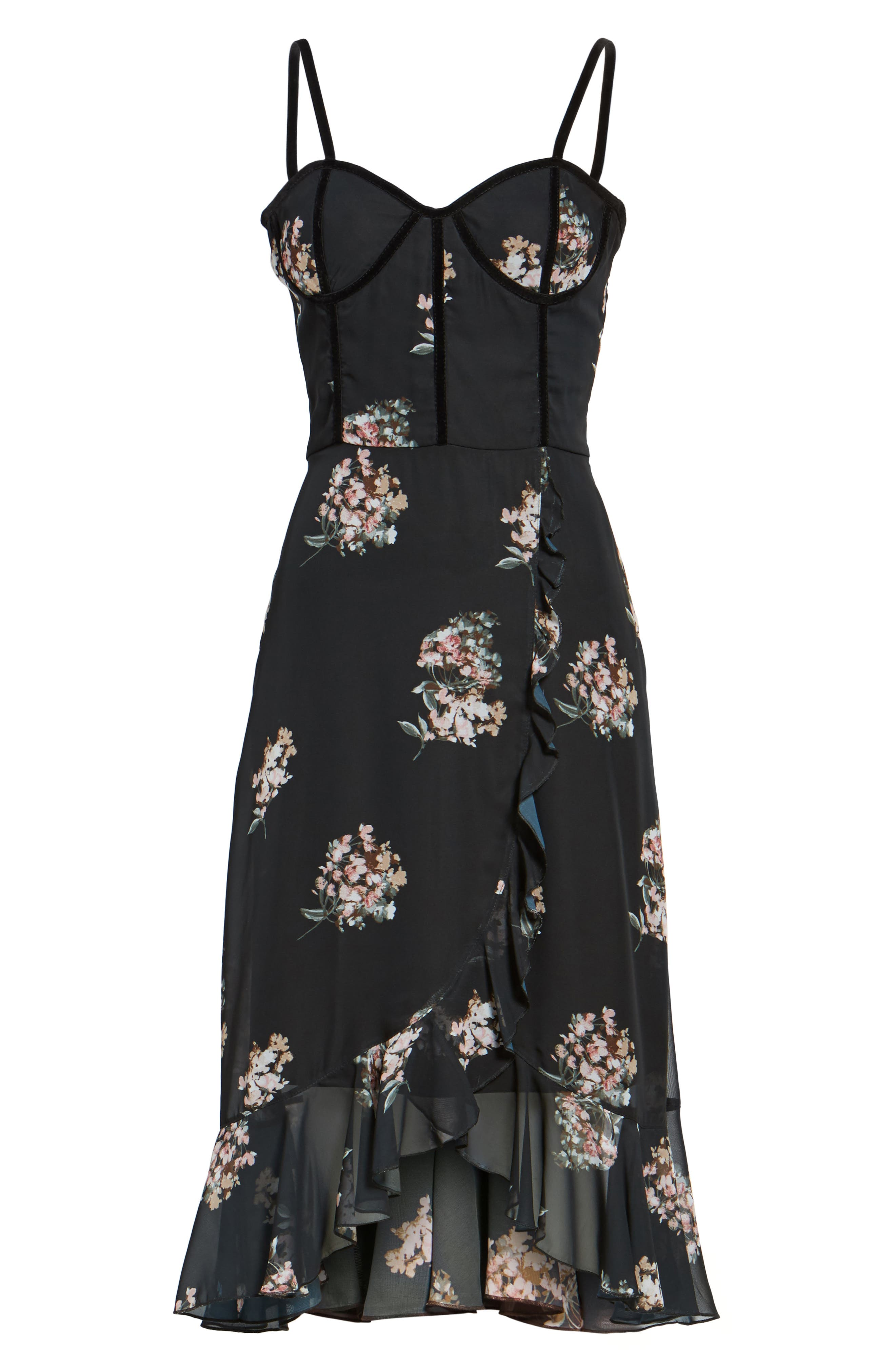 Alternate Image 6  - Leith Floral Corset Dress