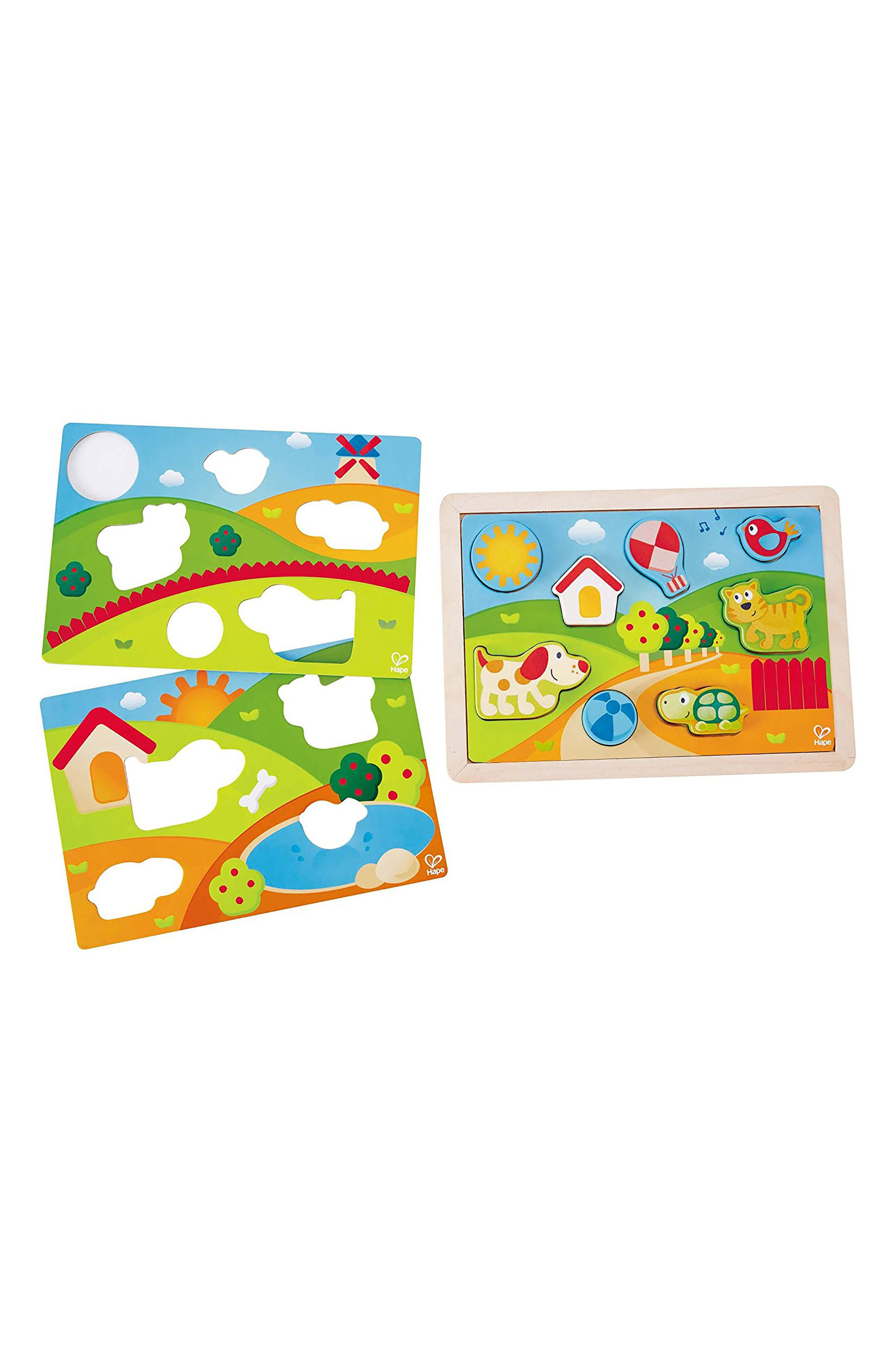 Sunny Valley 3-in-1 Puzzle,                             Main thumbnail 1, color,                             Multi