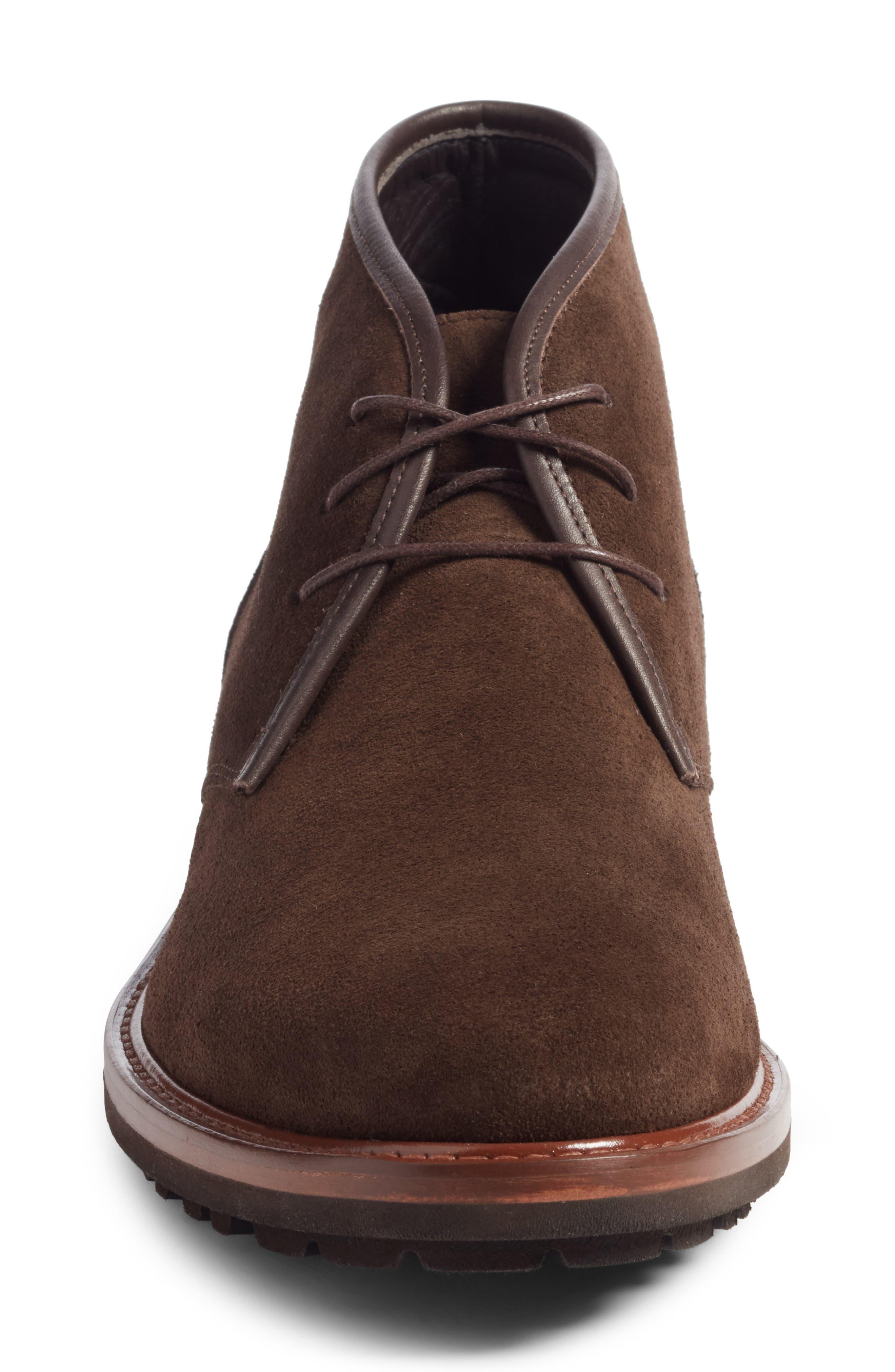 Brixen Waterproof Chukka Boot,                             Alternate thumbnail 4, color,                             Brown Suede