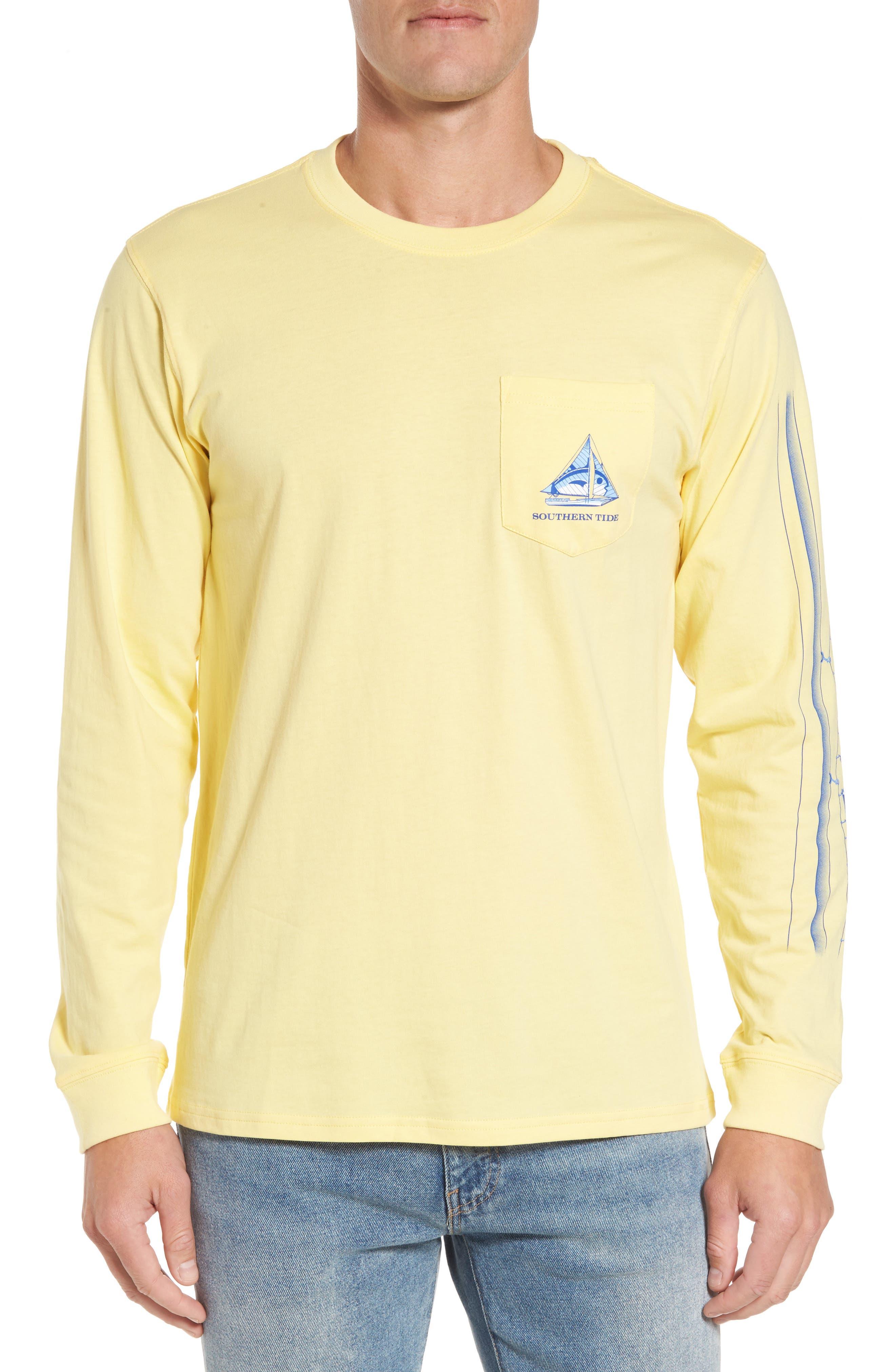 Sailboat Classic T-Shirt,                         Main,                         color, Sunburst
