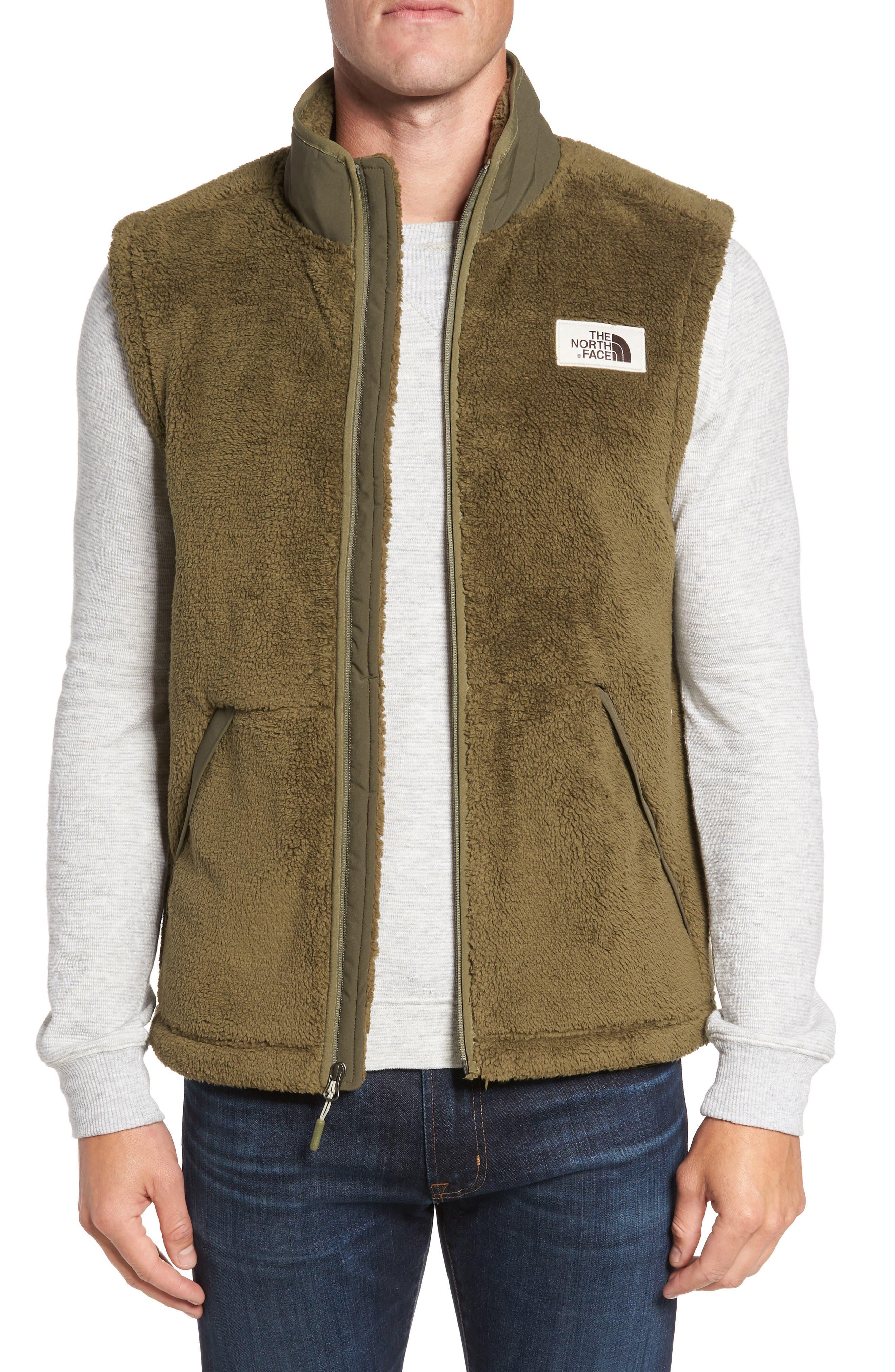 Campshire Fleece Vest,                         Main,                         color, Green