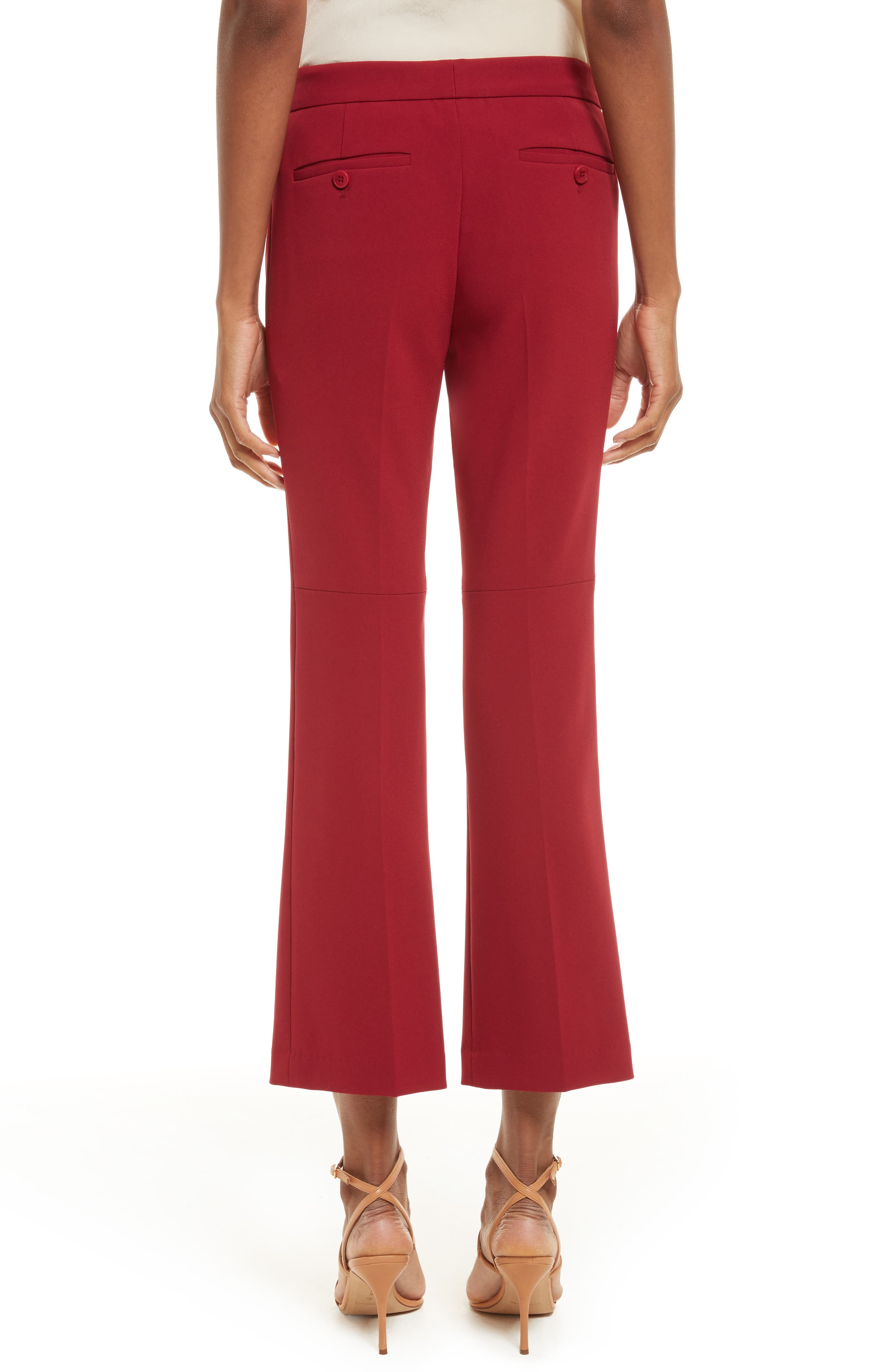 Admiral Crepe Kick Crop Pants,                             Alternate thumbnail 2, color,                             Bright Raspberry