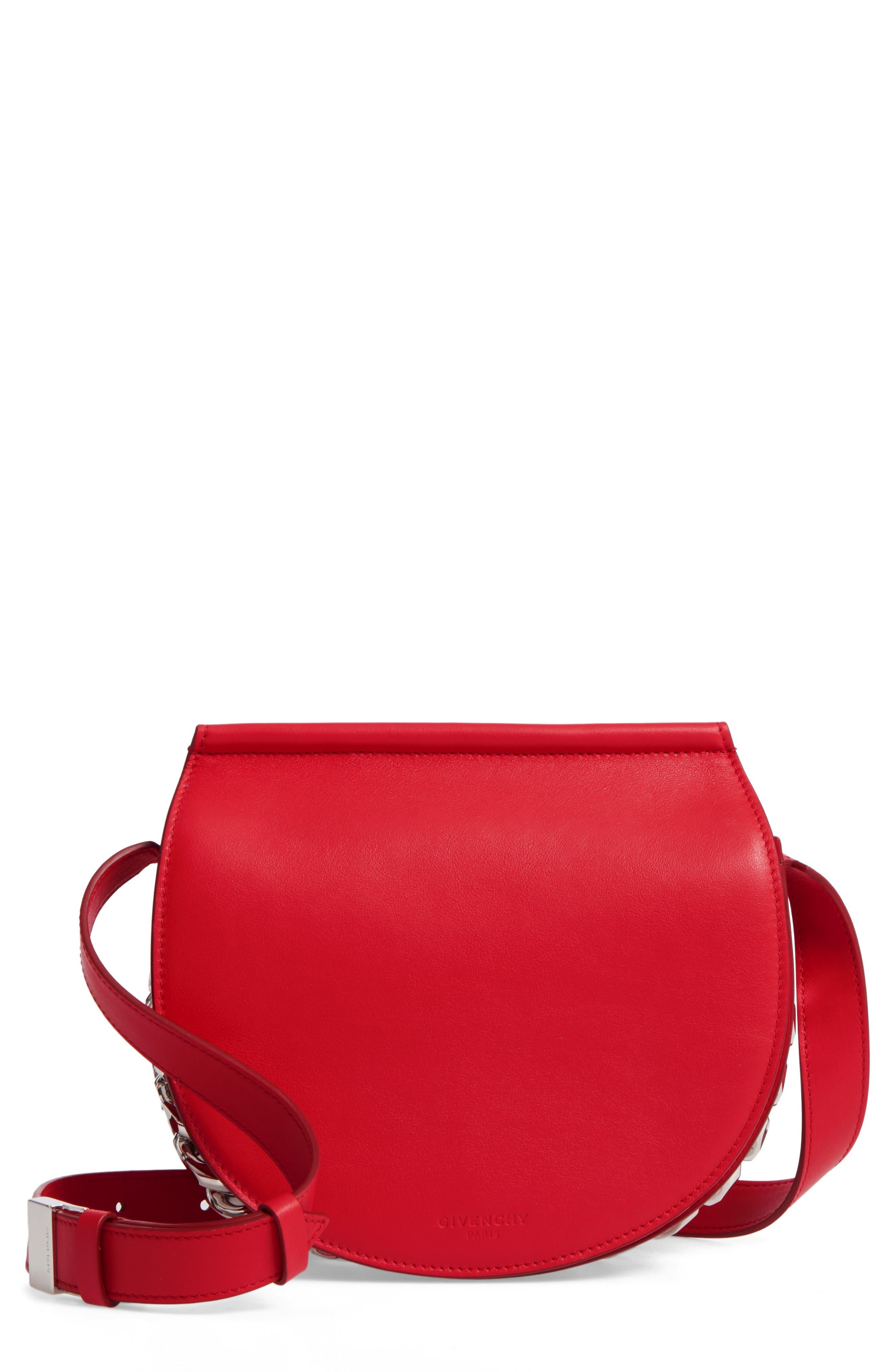 Givenchy Mini Infinity Calfskin Leather Saddle Bag