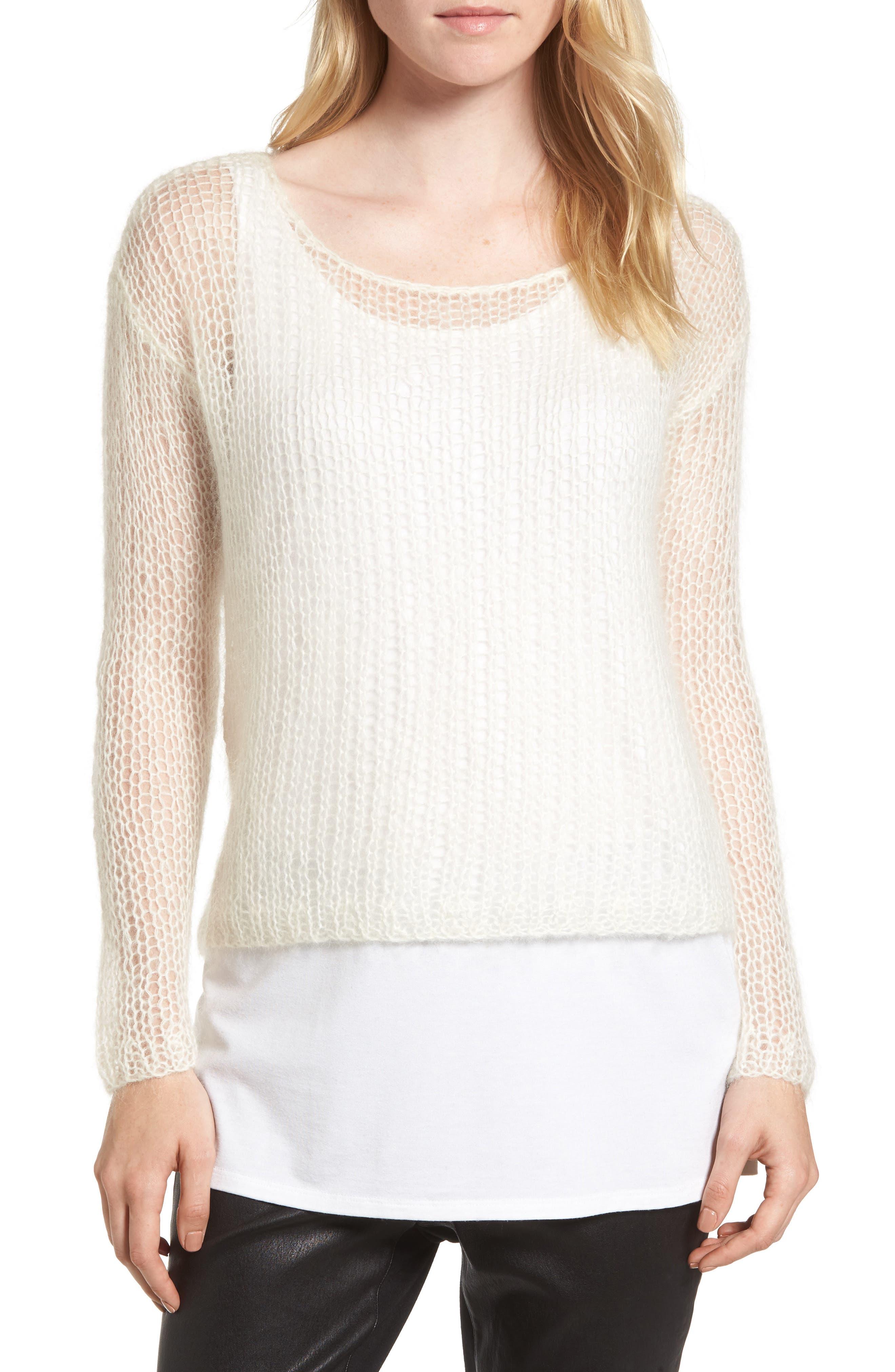 Eileen Fisher Alpaca Blend Mesh Sweater (Nordstrom Exclusive) (Regular & Petite)
