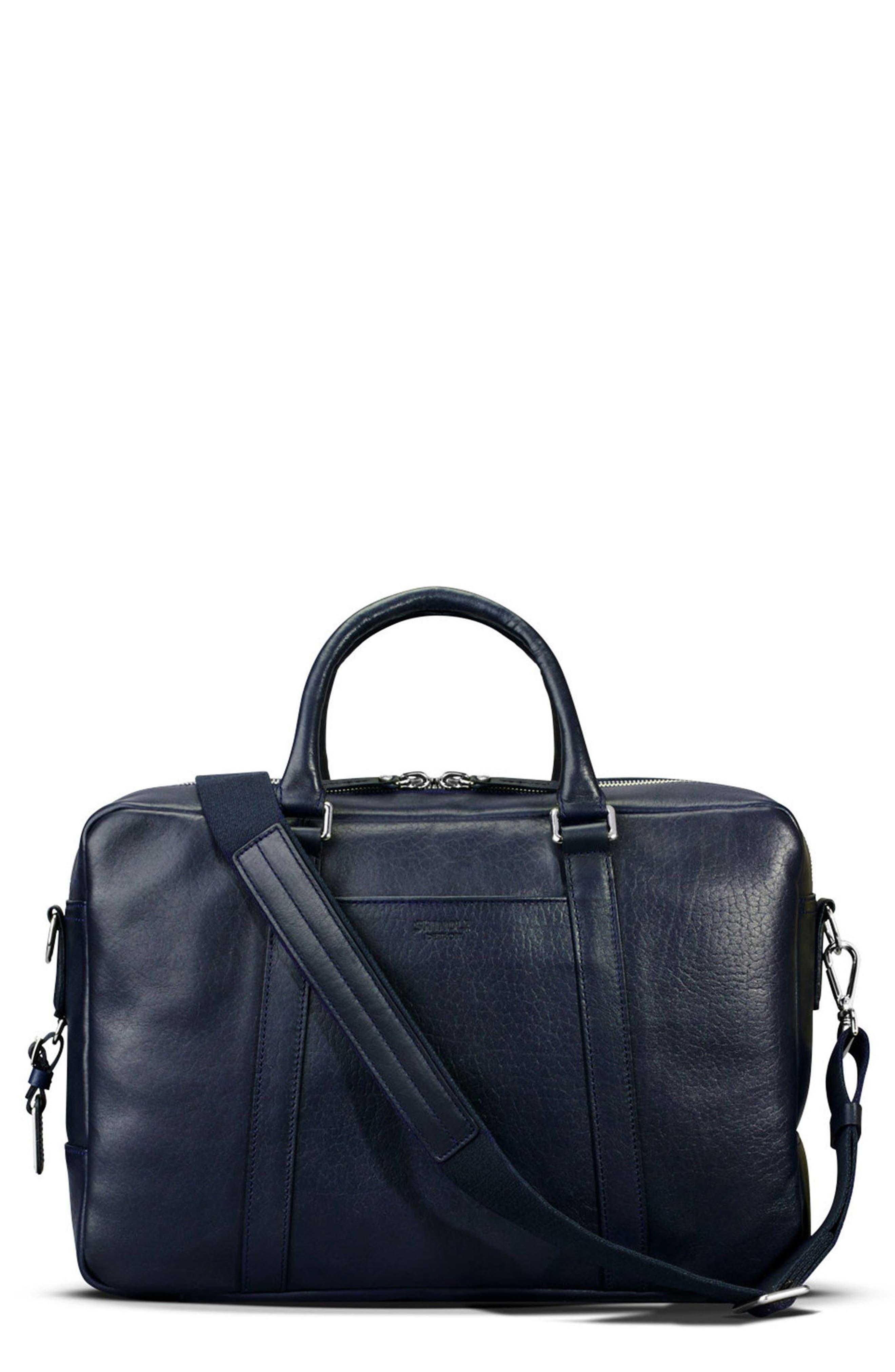 Main Image - Shinola Signature Leather Slim Briefcase