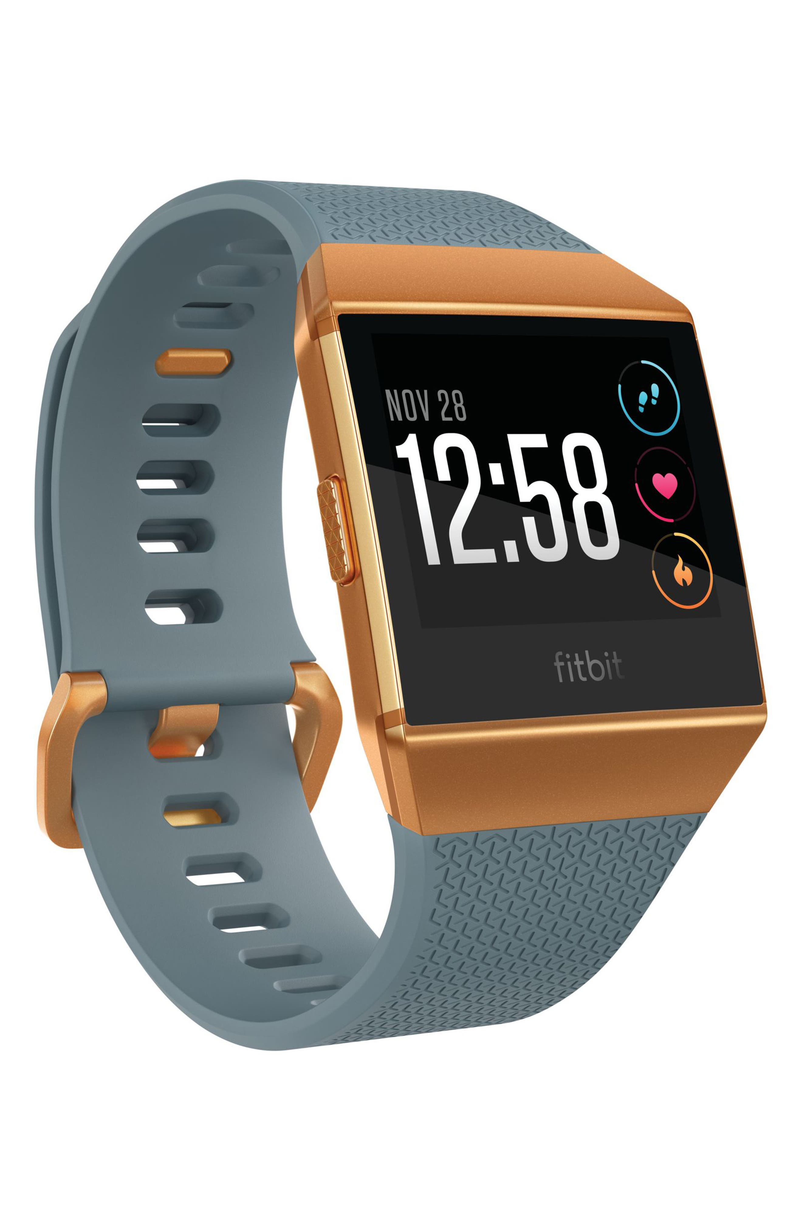 Ionic Watch,                         Main,                         color, Slate Blue/ Burnt Orange