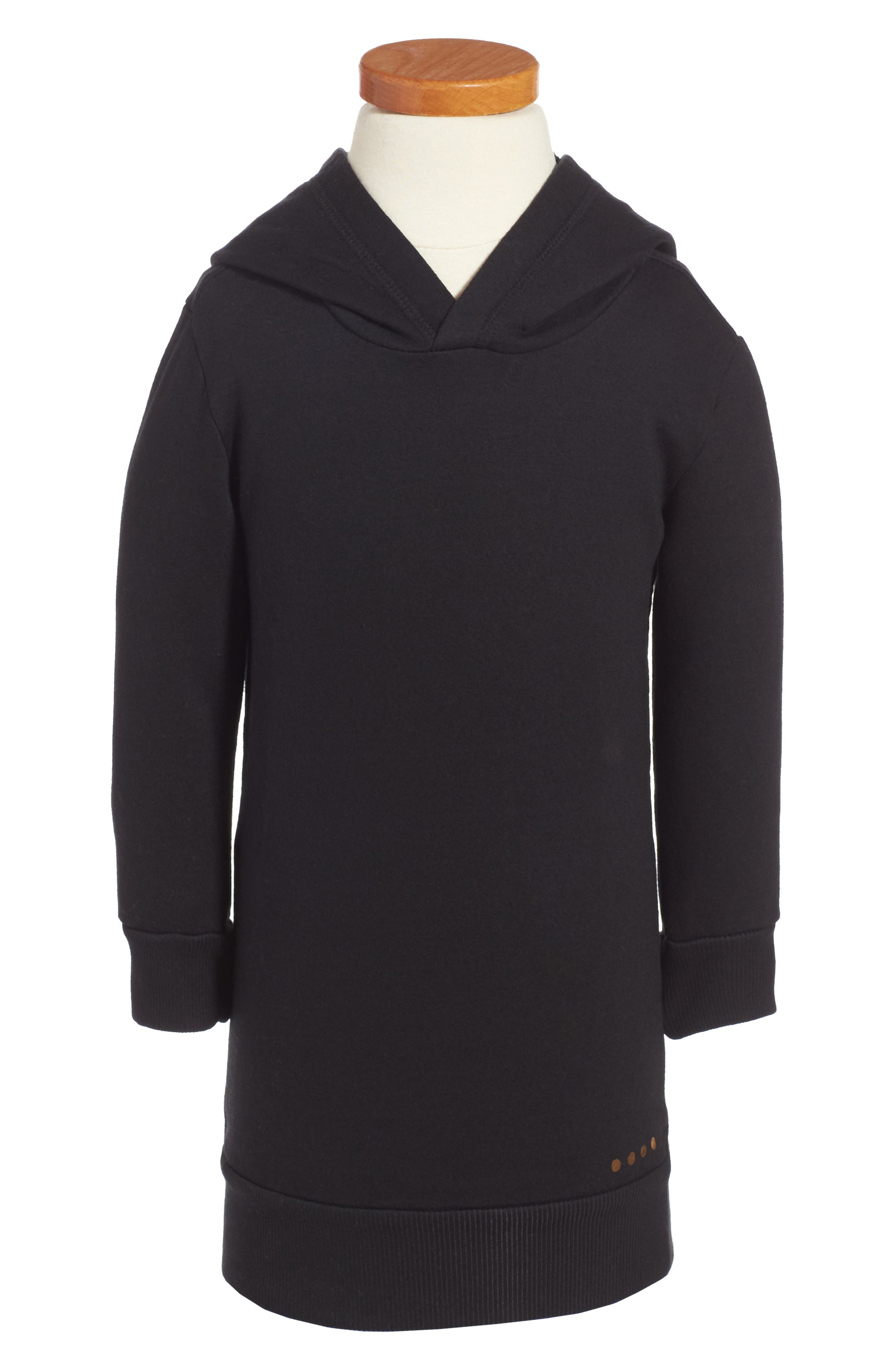 BERU Luna Hooded Organic Cotton Sweatshirt Dress (Toddler Girls & Little Girls)