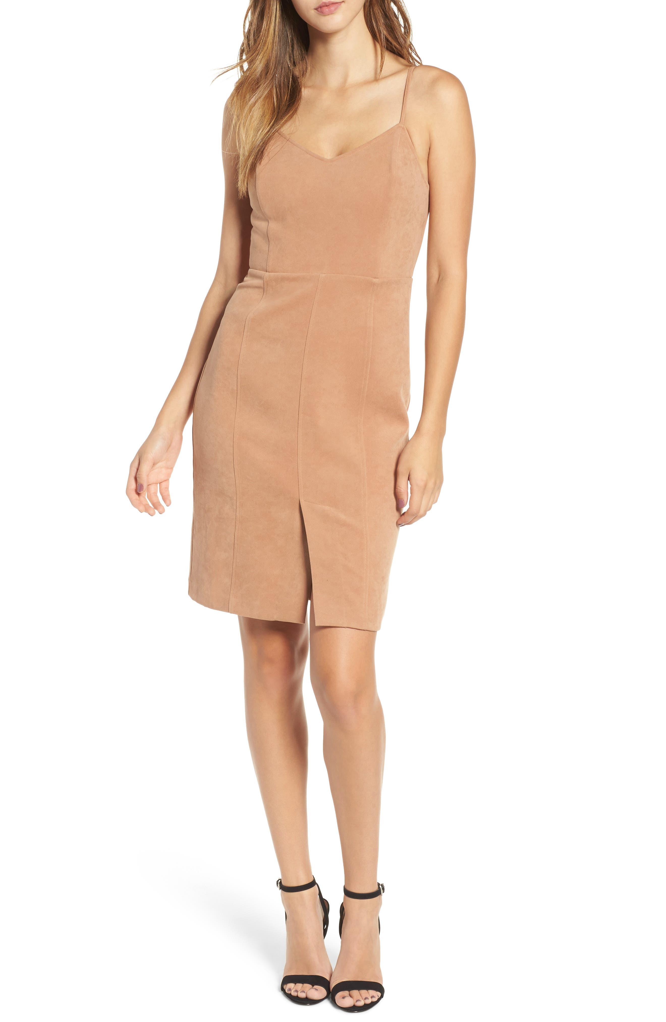 J.O.A. V-Neck Sheath Dress