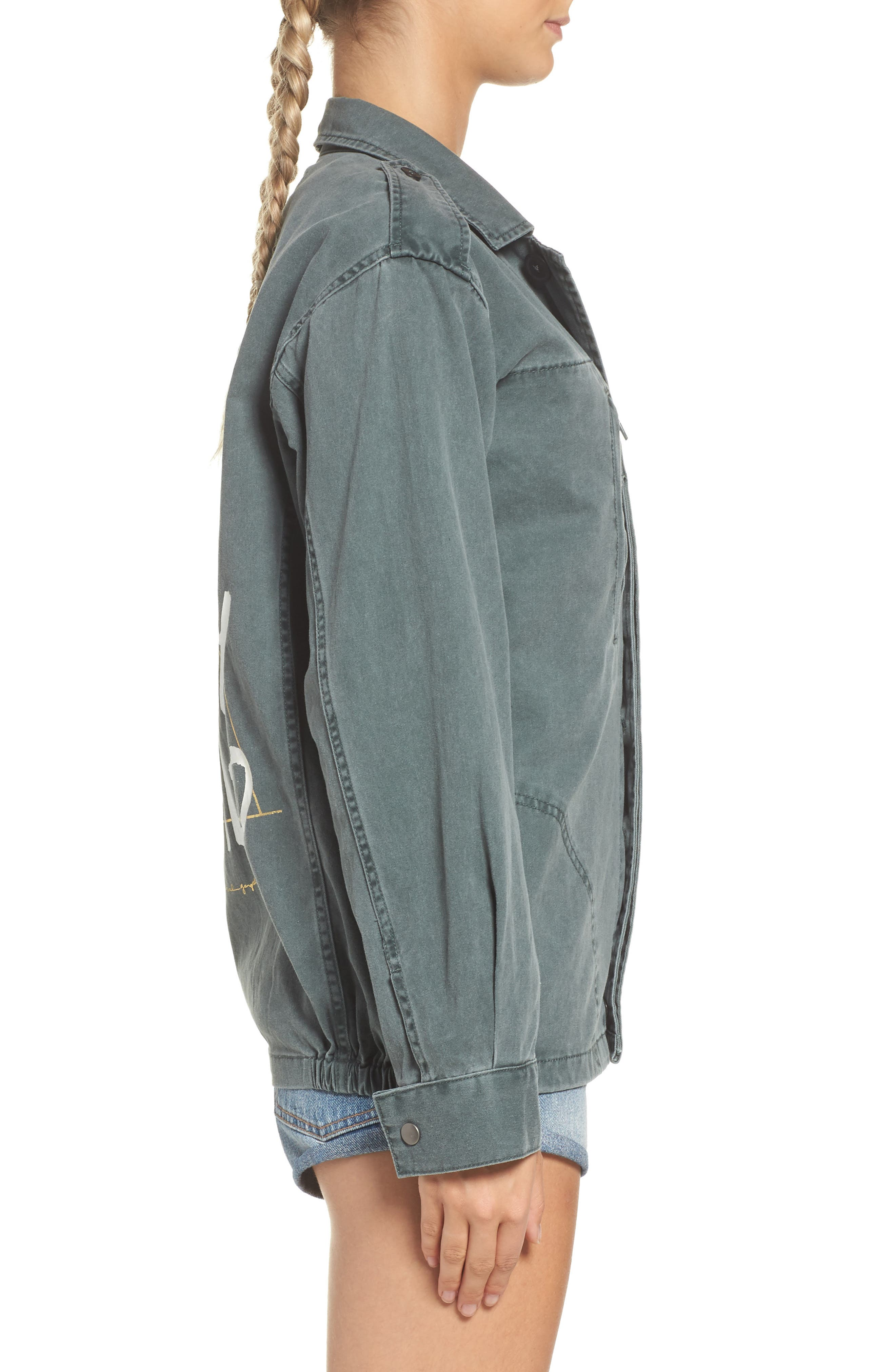 Stay Wild Gypsy Child Amy Jacket,                             Alternate thumbnail 3, color,                             Army