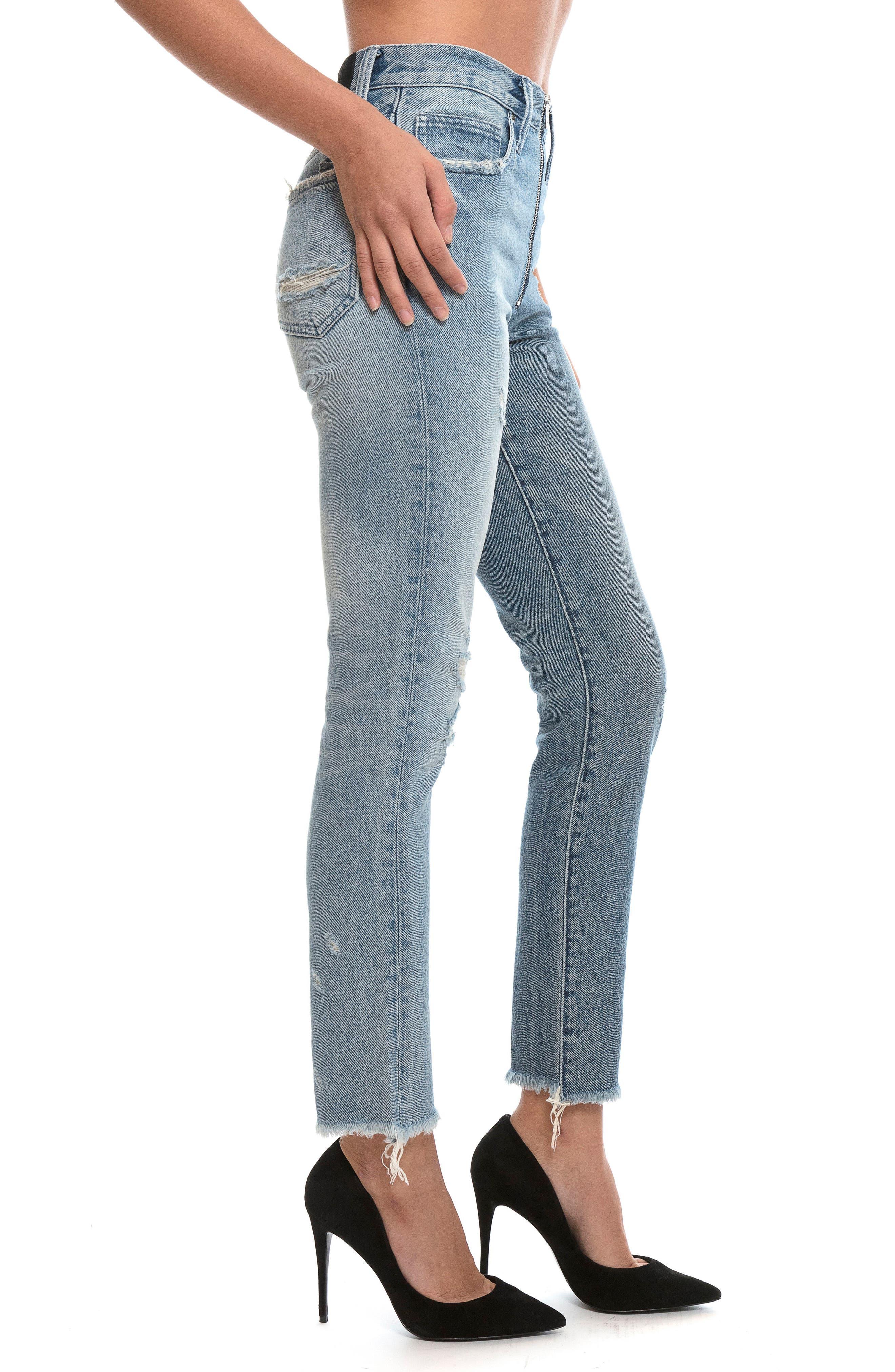 Chevelle Ankle Skinny Jeans,                             Alternate thumbnail 3, color,                             Indigo