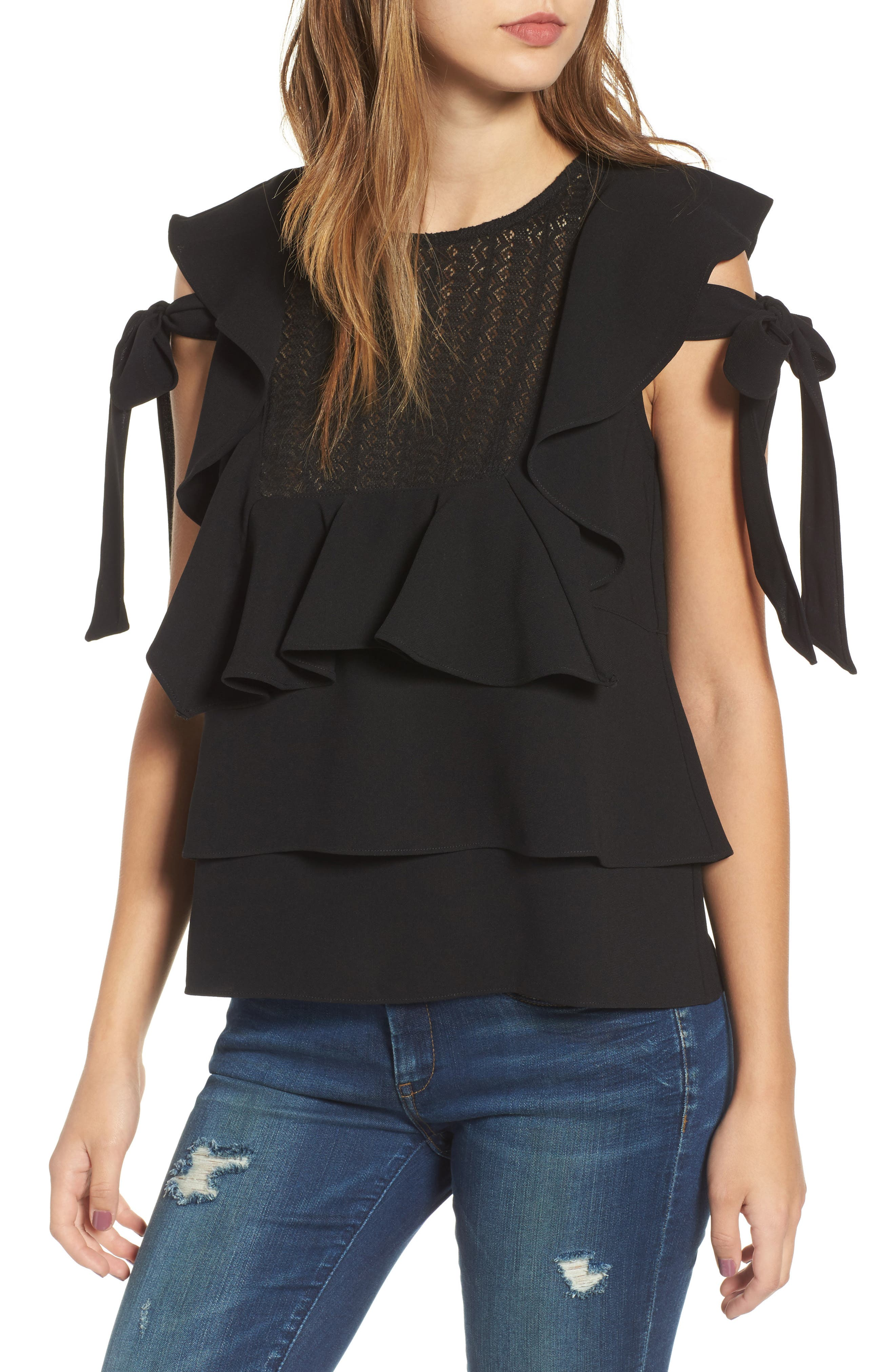 Main Image - J.O.A. Ruffled Top