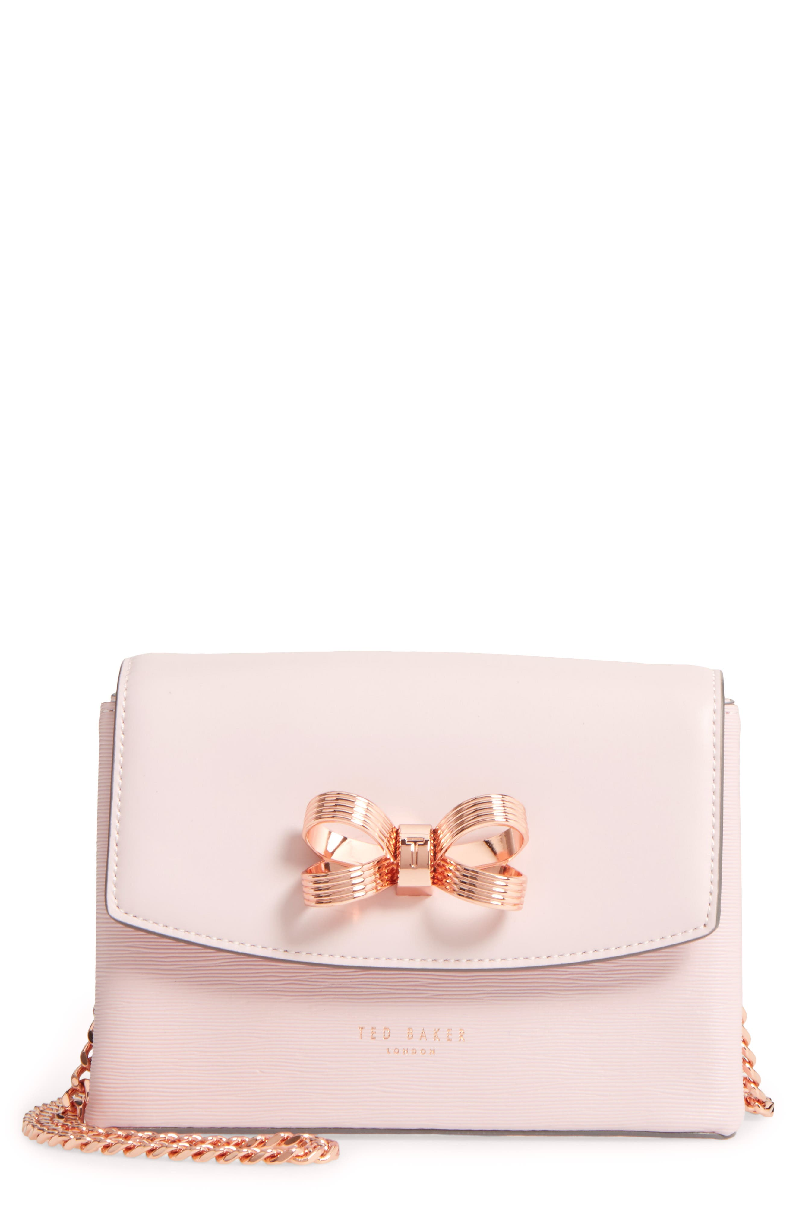 Main Image - Ted Baker London Leorr Bow Leather Crossbody Bag