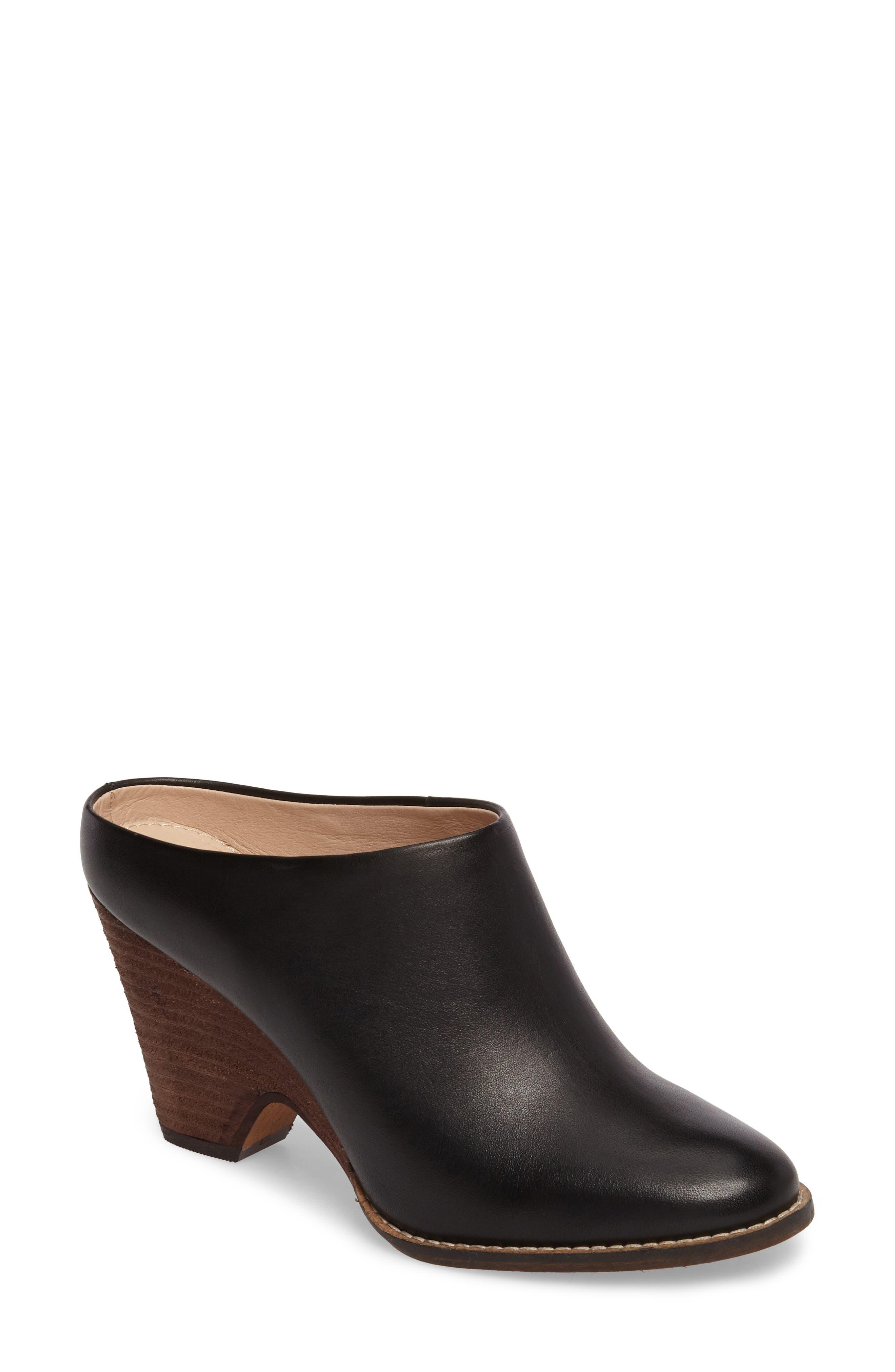 Hocking Mule,                         Main,                         color, Black Leather