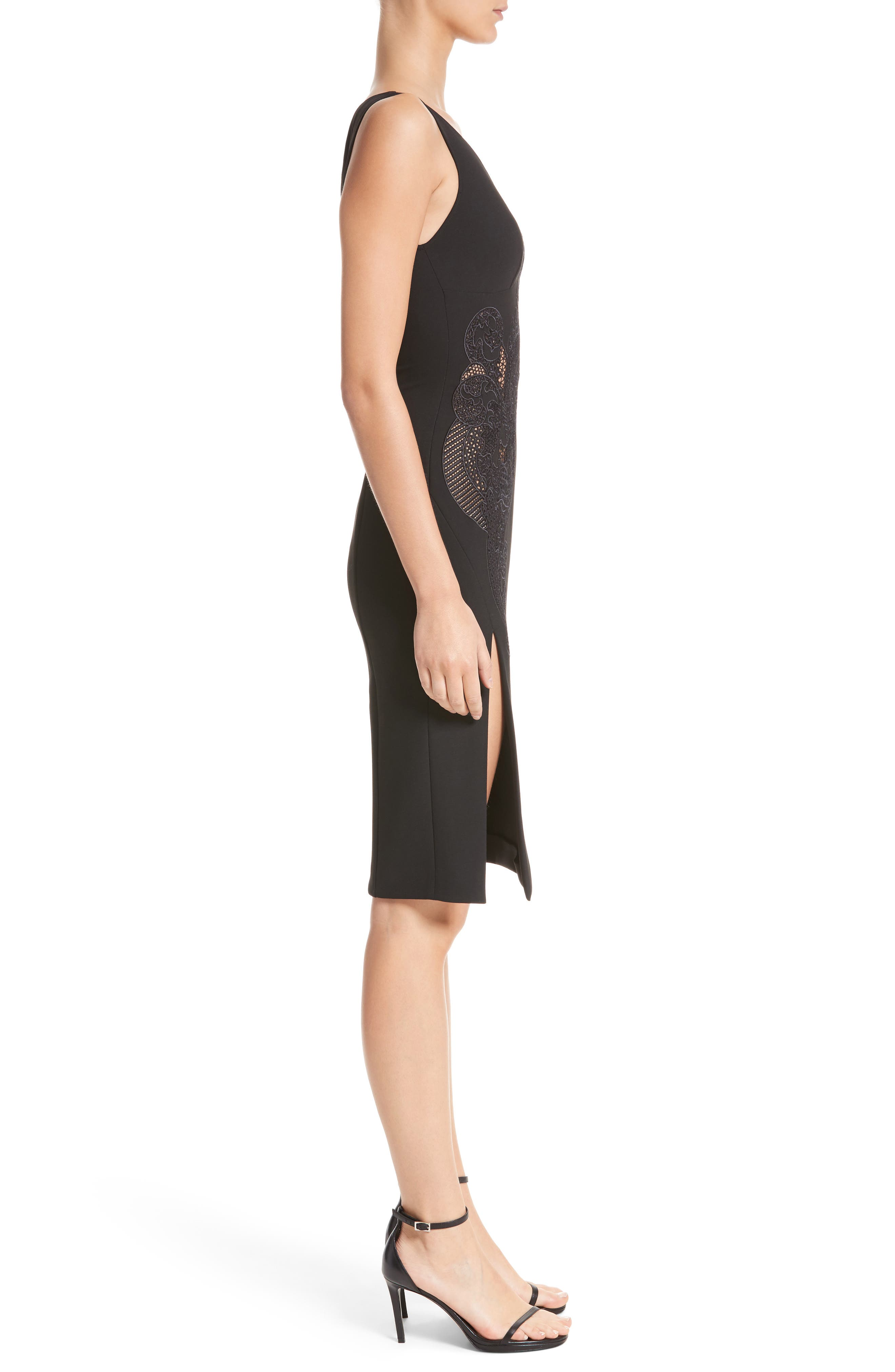 Alternate Image 3  - Versace Collection Lace Inset Sheath Dress