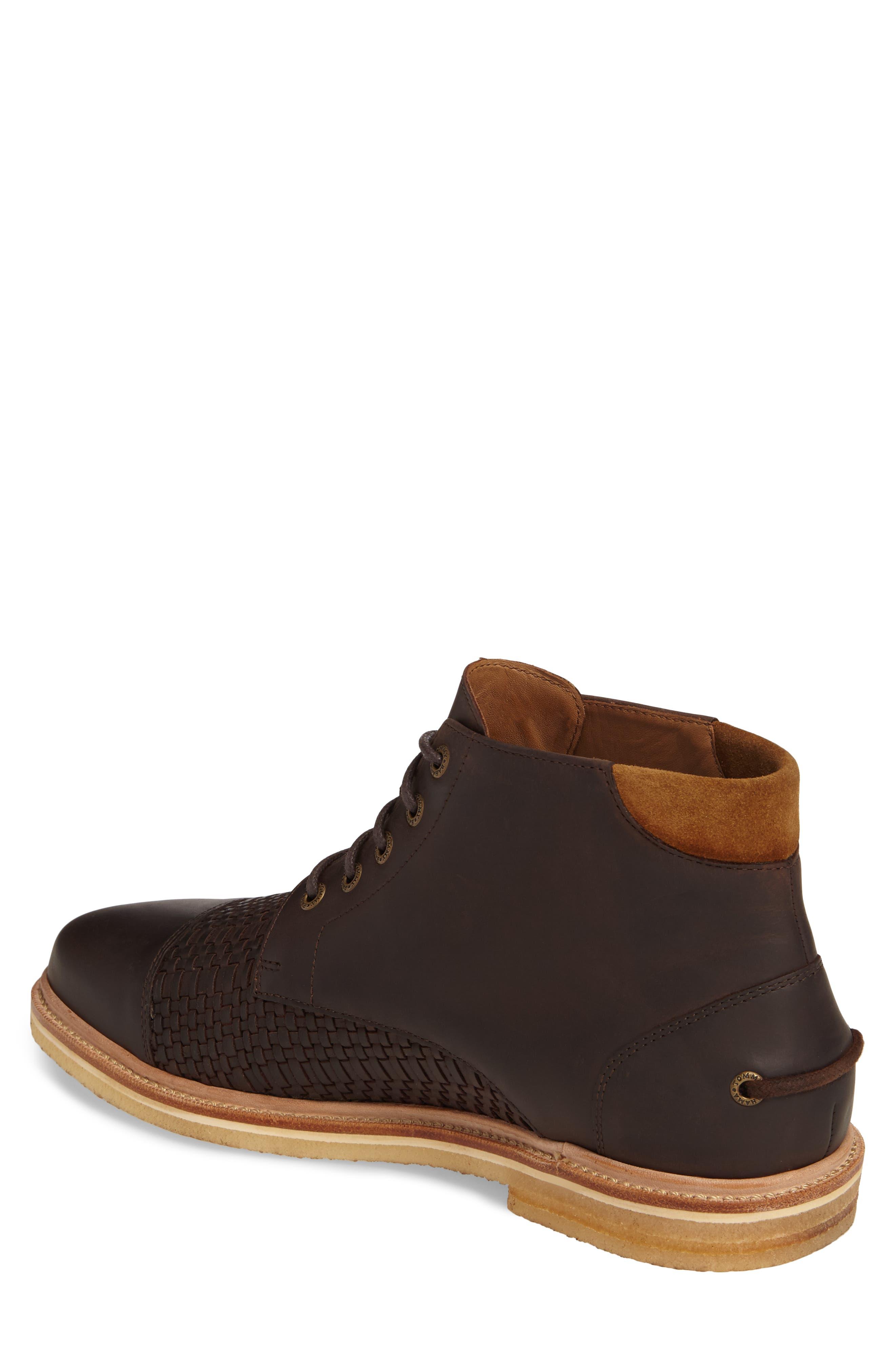 Argon Blooms Cap Toe Boot,                             Alternate thumbnail 2, color,                             Brown Leather