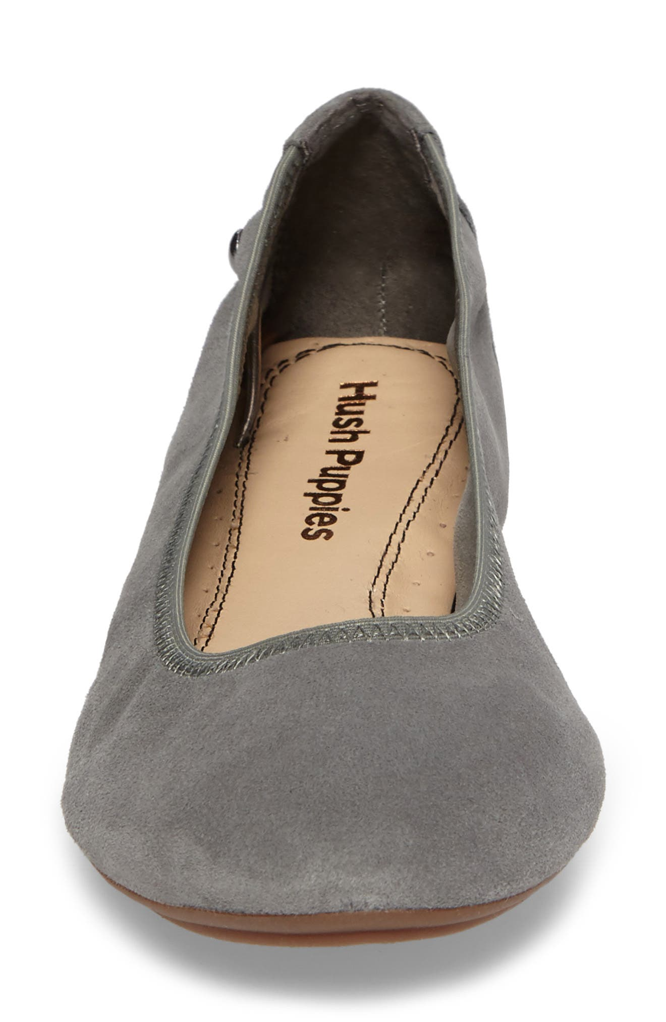 'Chaste' Ballet Flat,                             Alternate thumbnail 4, color,                             Dusty Green Suede