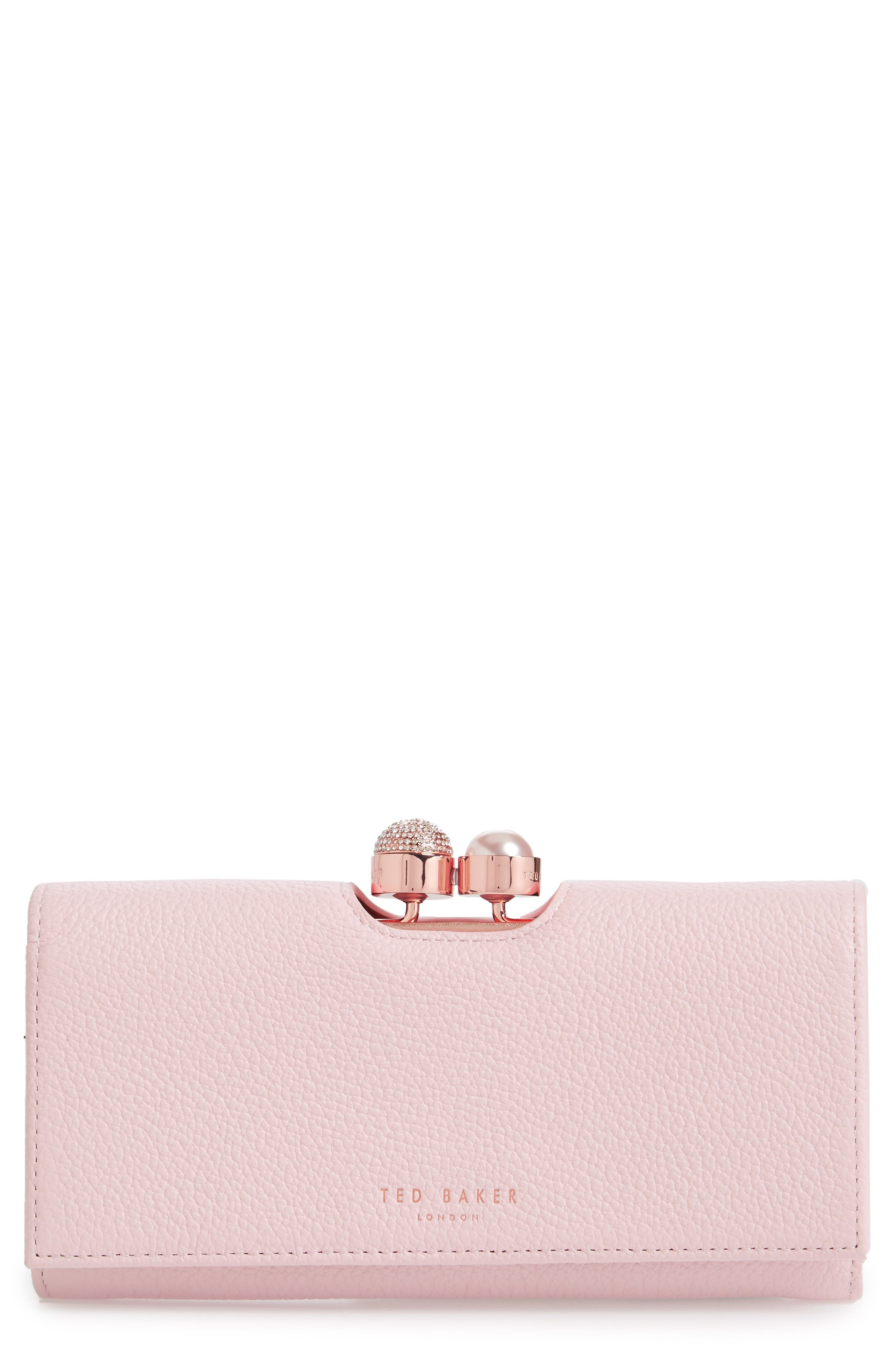 Ted Baker London Marta Bobble Matinée Leather Wallet