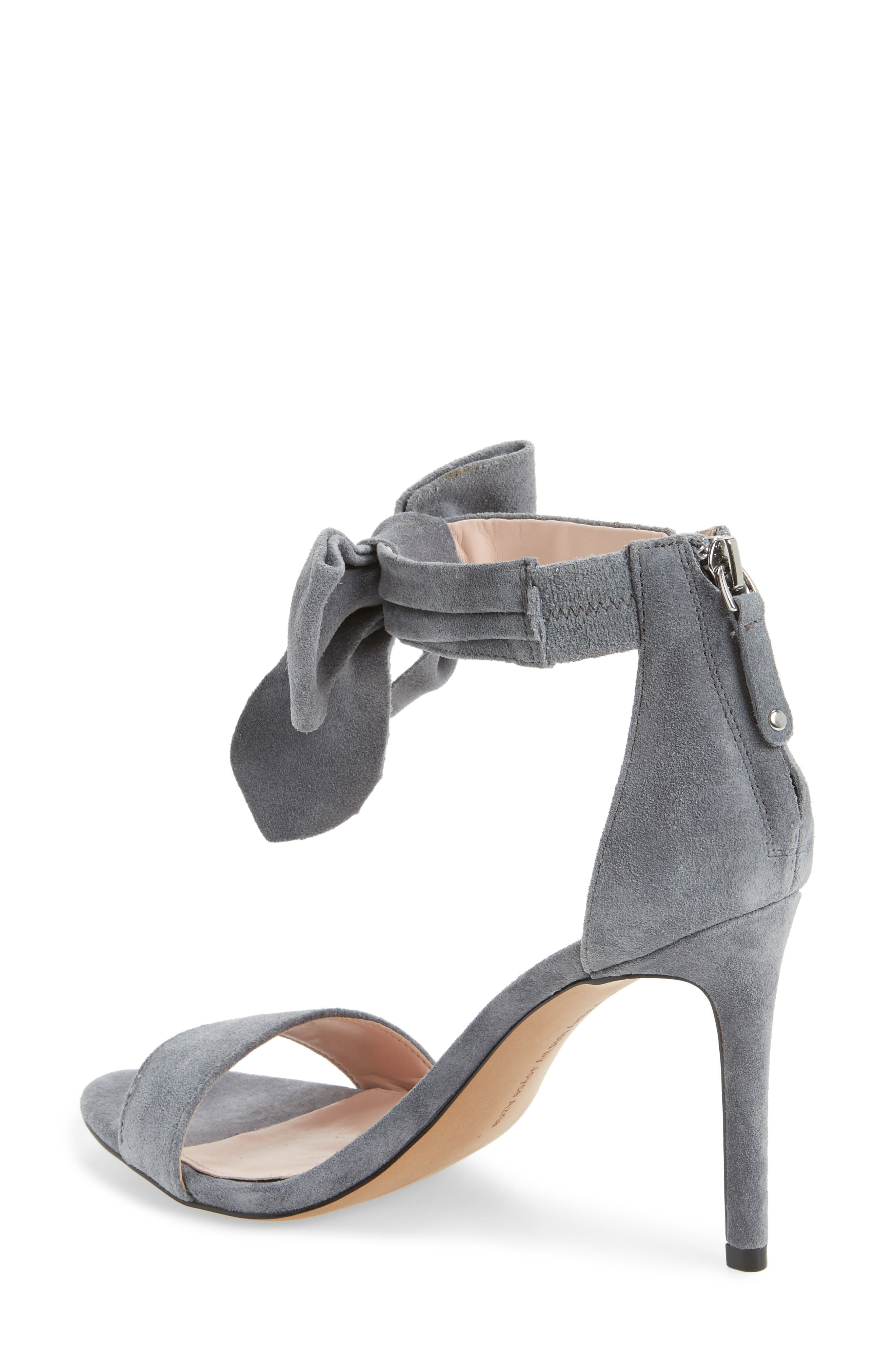 Jax Ankle Bow Pump,                             Alternate thumbnail 2, color,                             Grey Suede