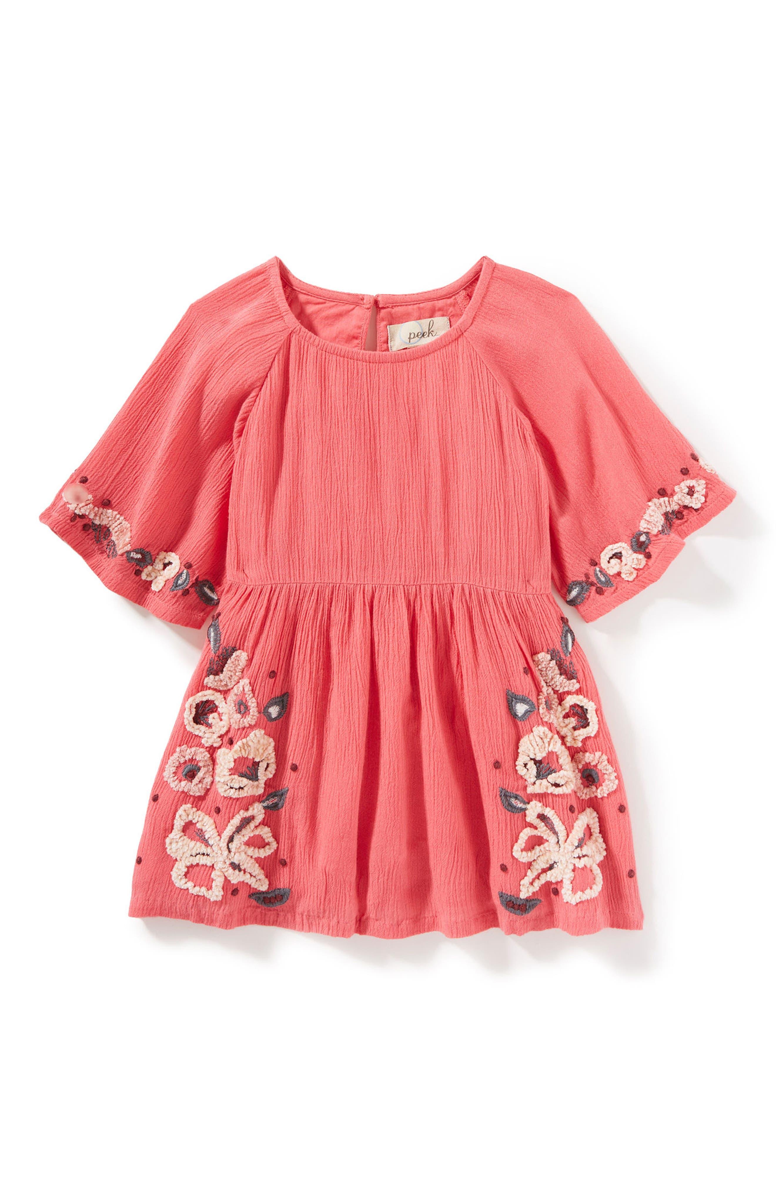 Eva Gauze Dress,                         Main,                         color, Berry