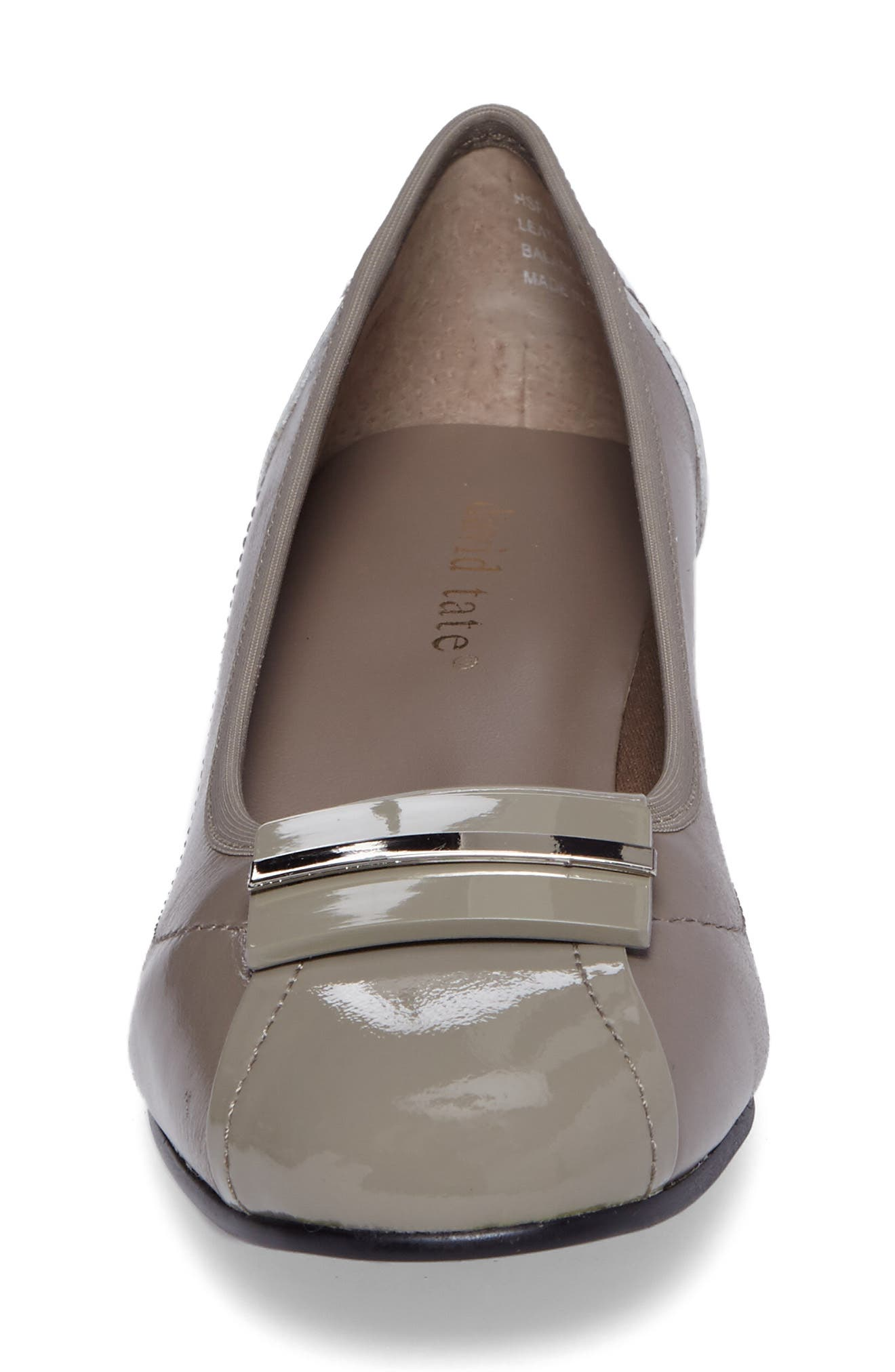Ideal Pump,                             Alternate thumbnail 4, color,                             Taupe Patent Leather
