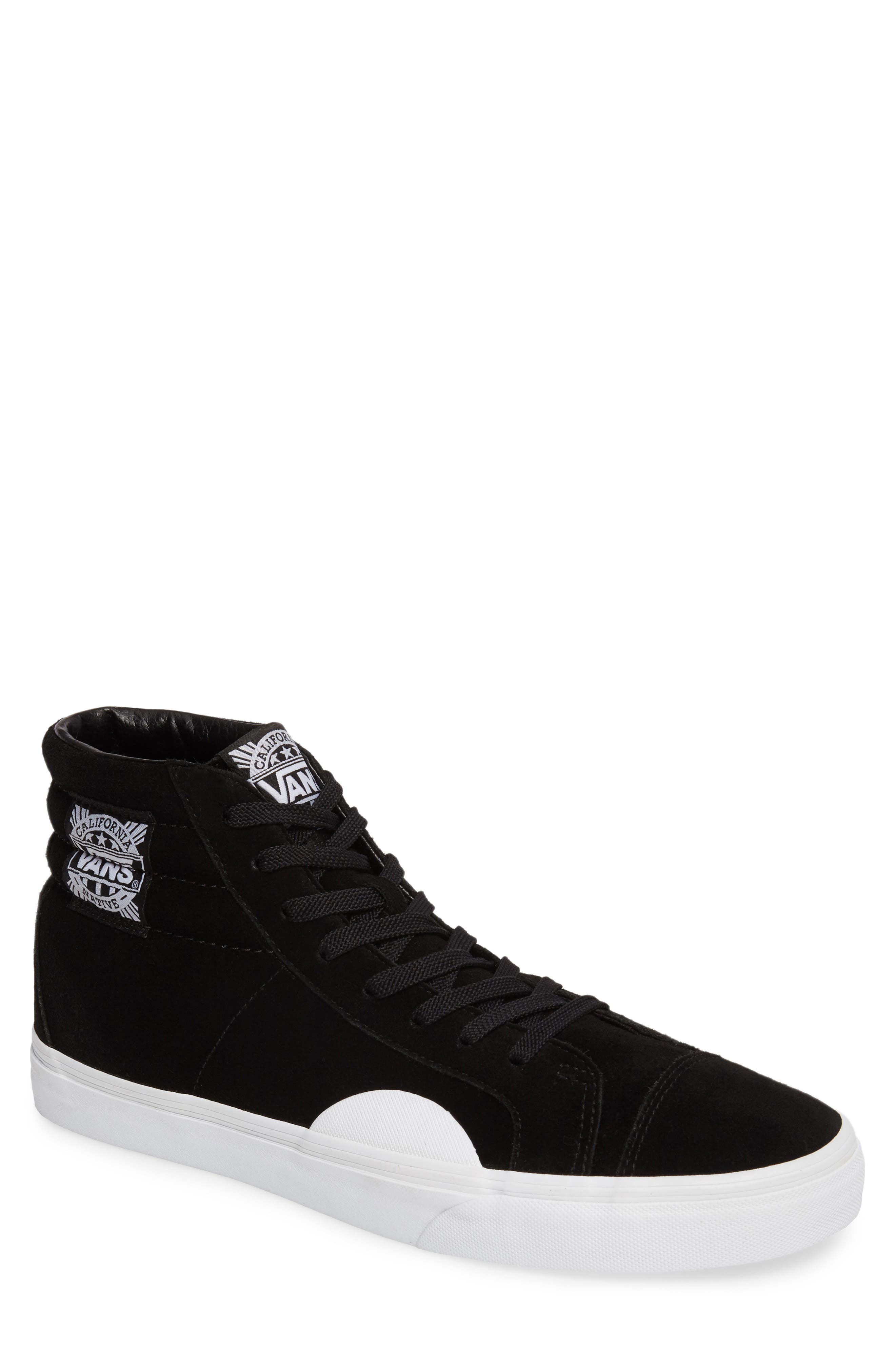 Style 238 Sneaker,                             Main thumbnail 1, color,                             Black/ White Suede