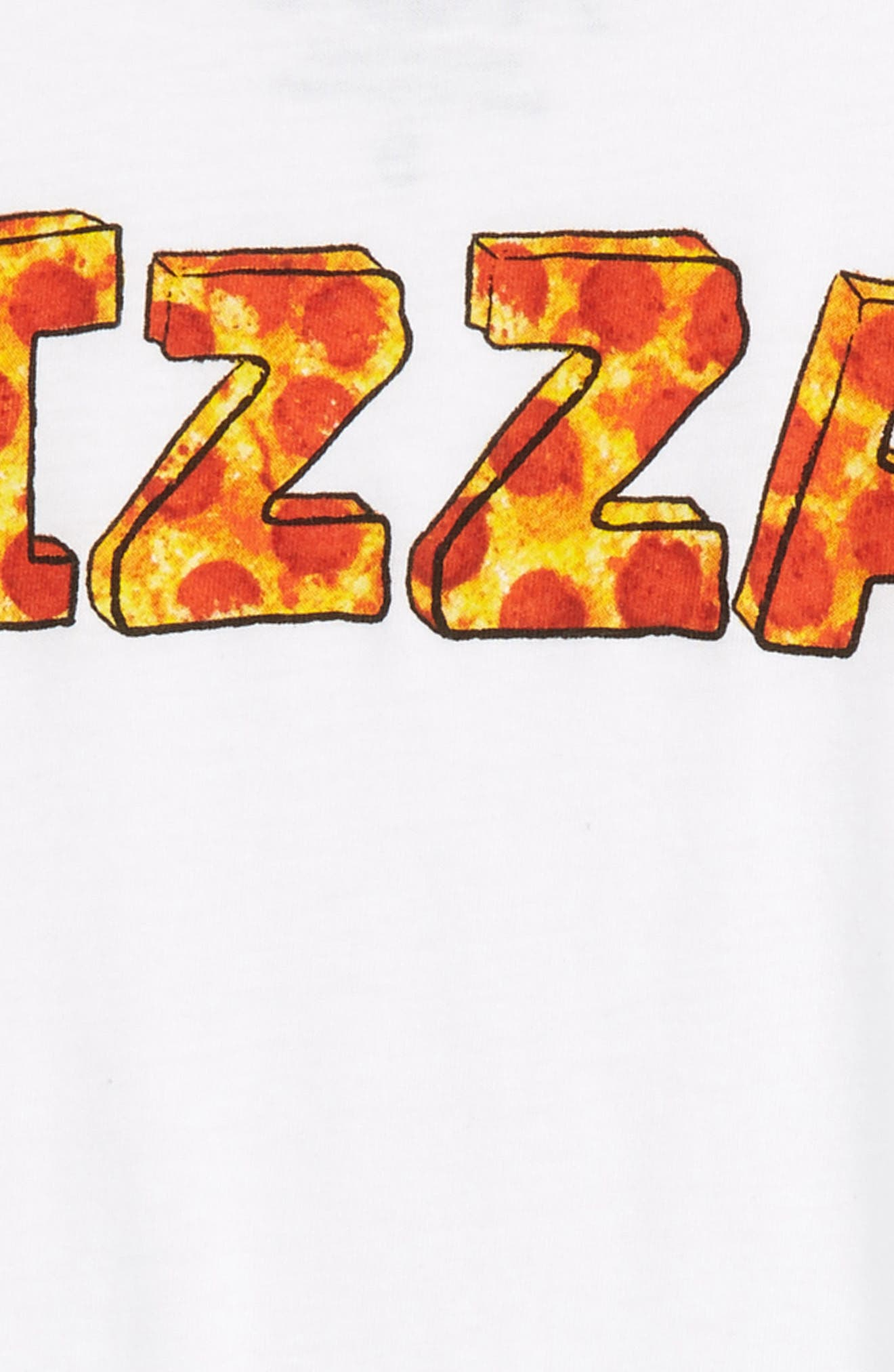 Pizza Time Graphic Tee,                             Alternate thumbnail 2, color,                             White/ Cardinal