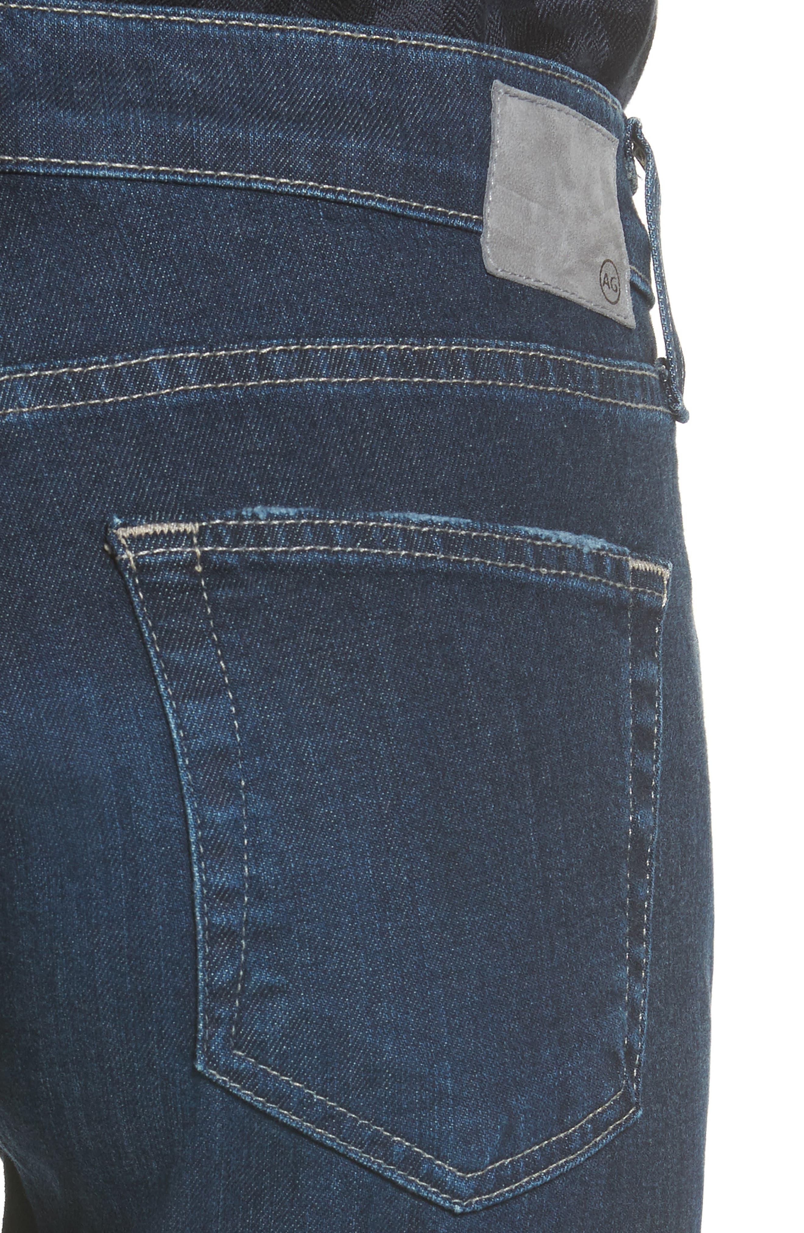 The Ex Boyfriend Crop Jeans,                             Alternate thumbnail 4, color,                             7 Years Dark Tide