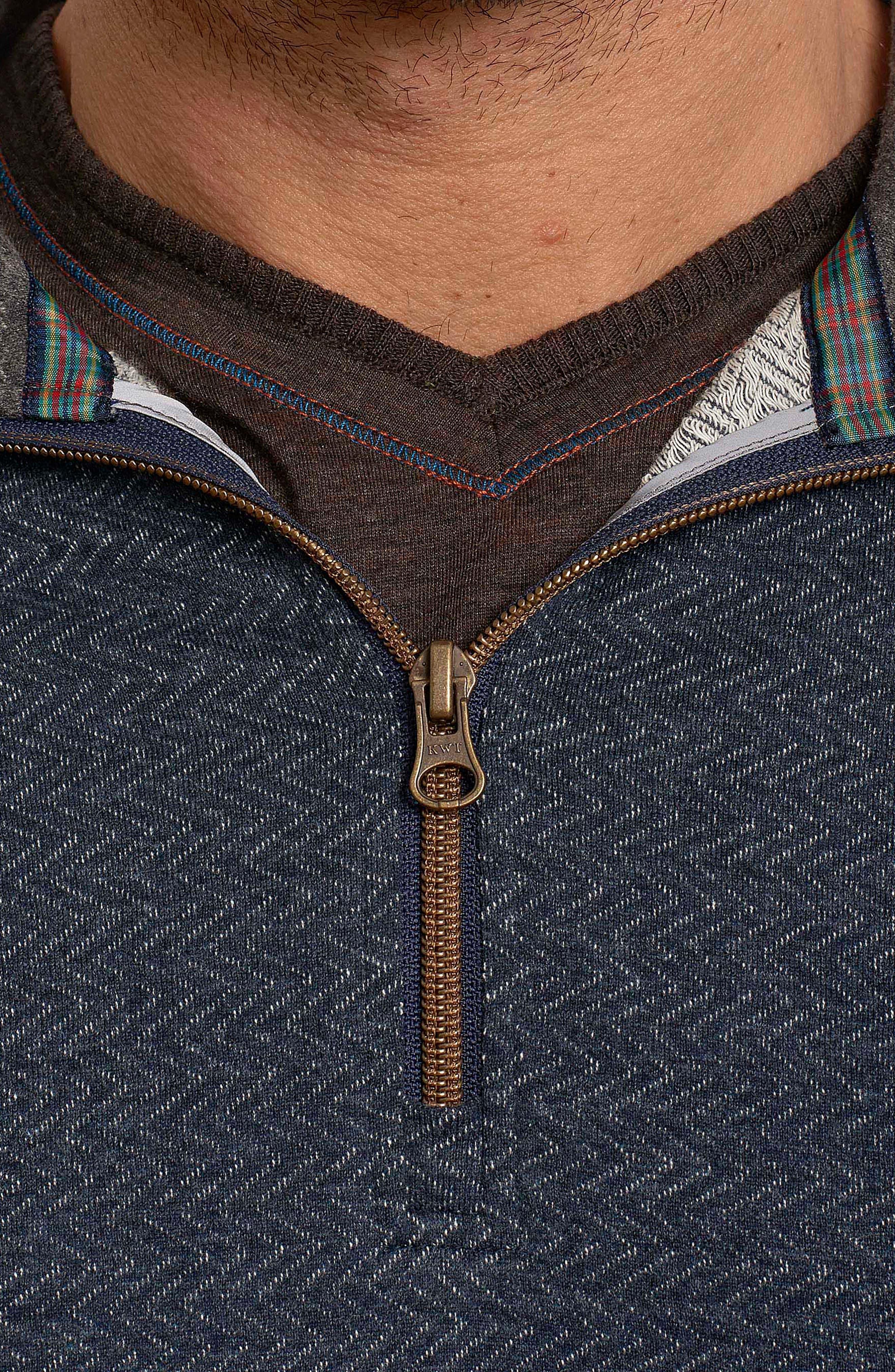 Alternate Image 3  - Robert Graham Warrensburg Herringbone Quarter Zip Pullover