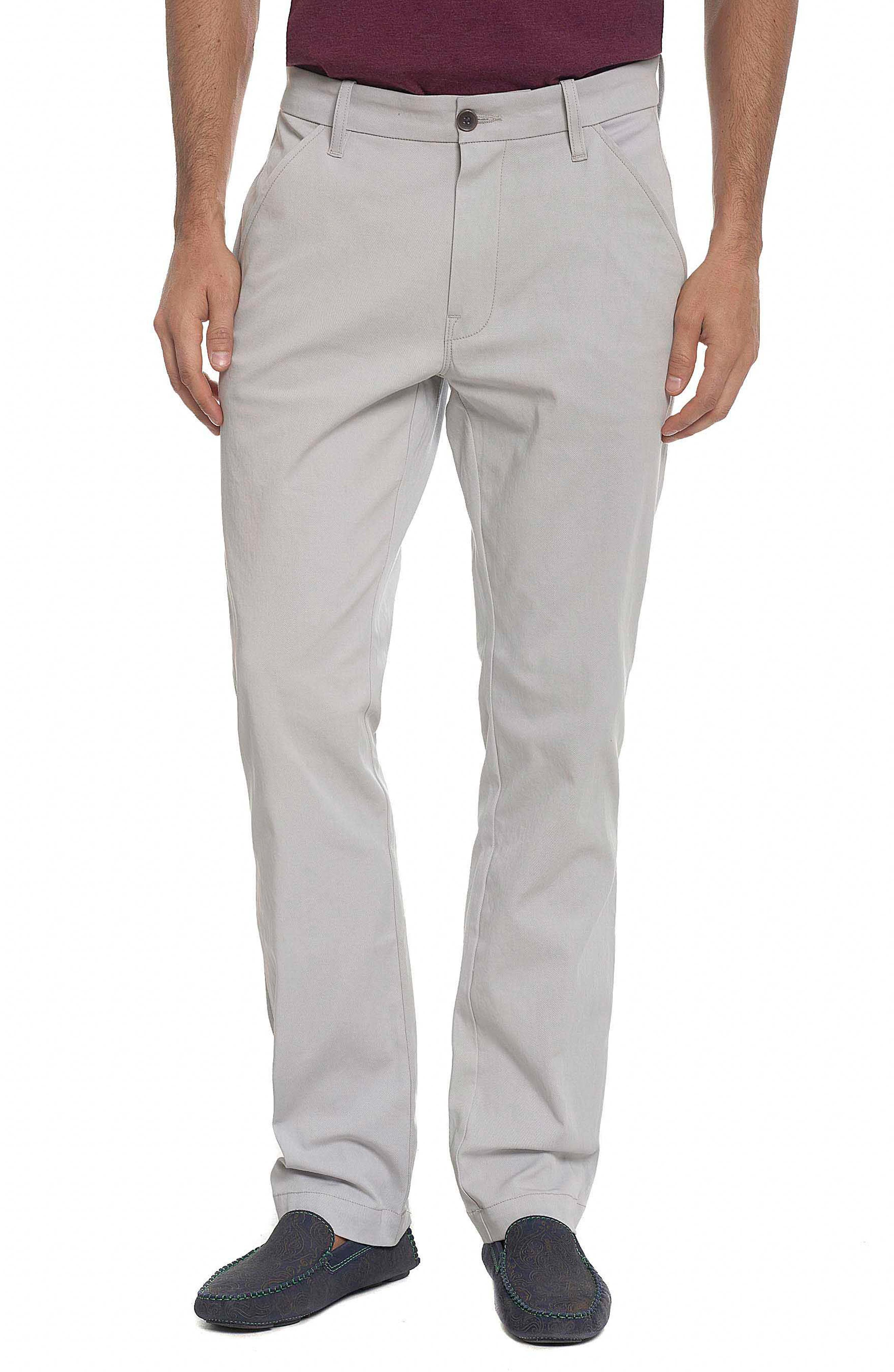 Alternate Image 1 Selected - Robert Graham Layton Tailored Fit Stretch Cotton Pants