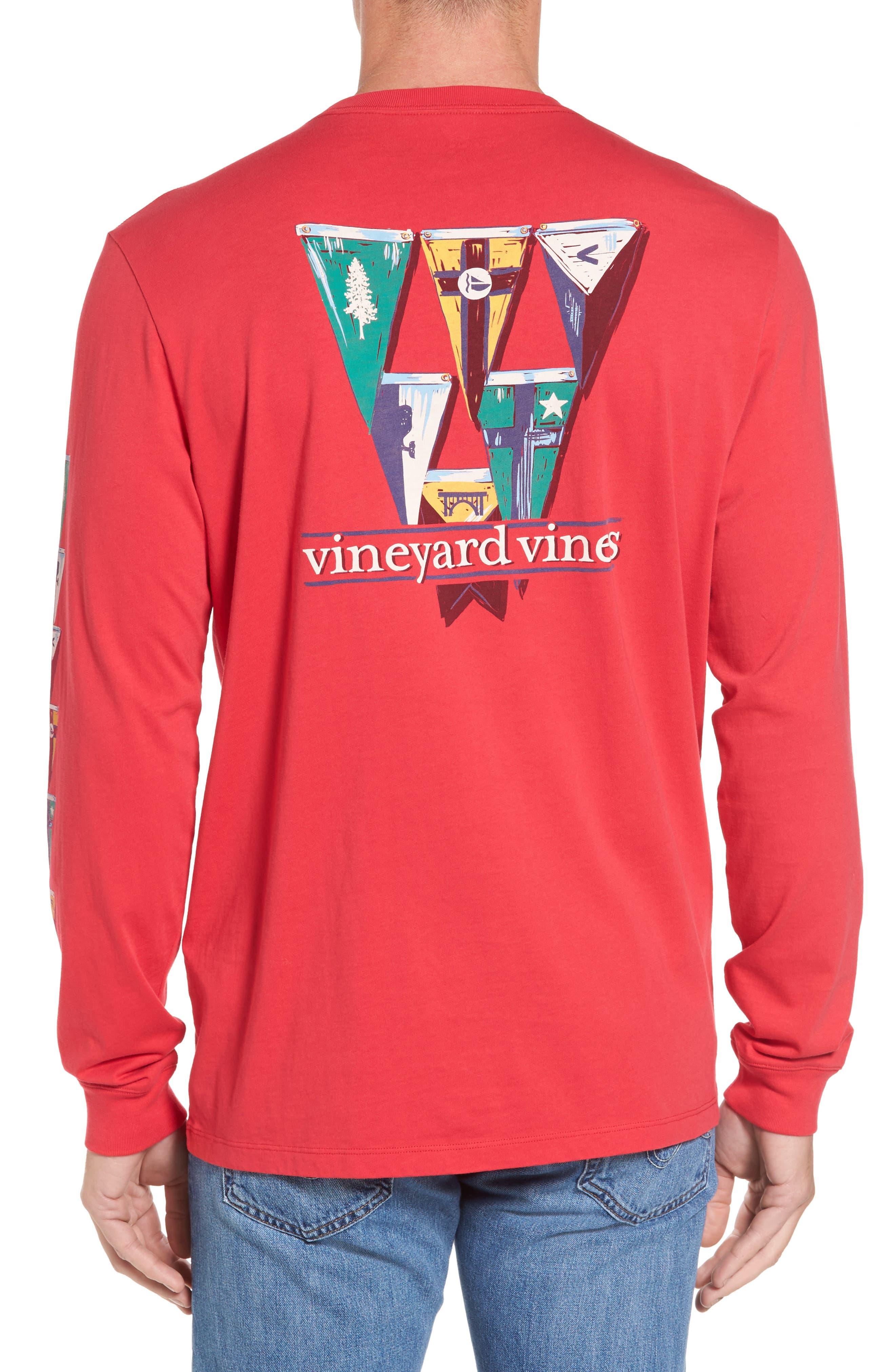 vineyard vines Coastal Burgees Long Sleeve Pocket T-Shirt