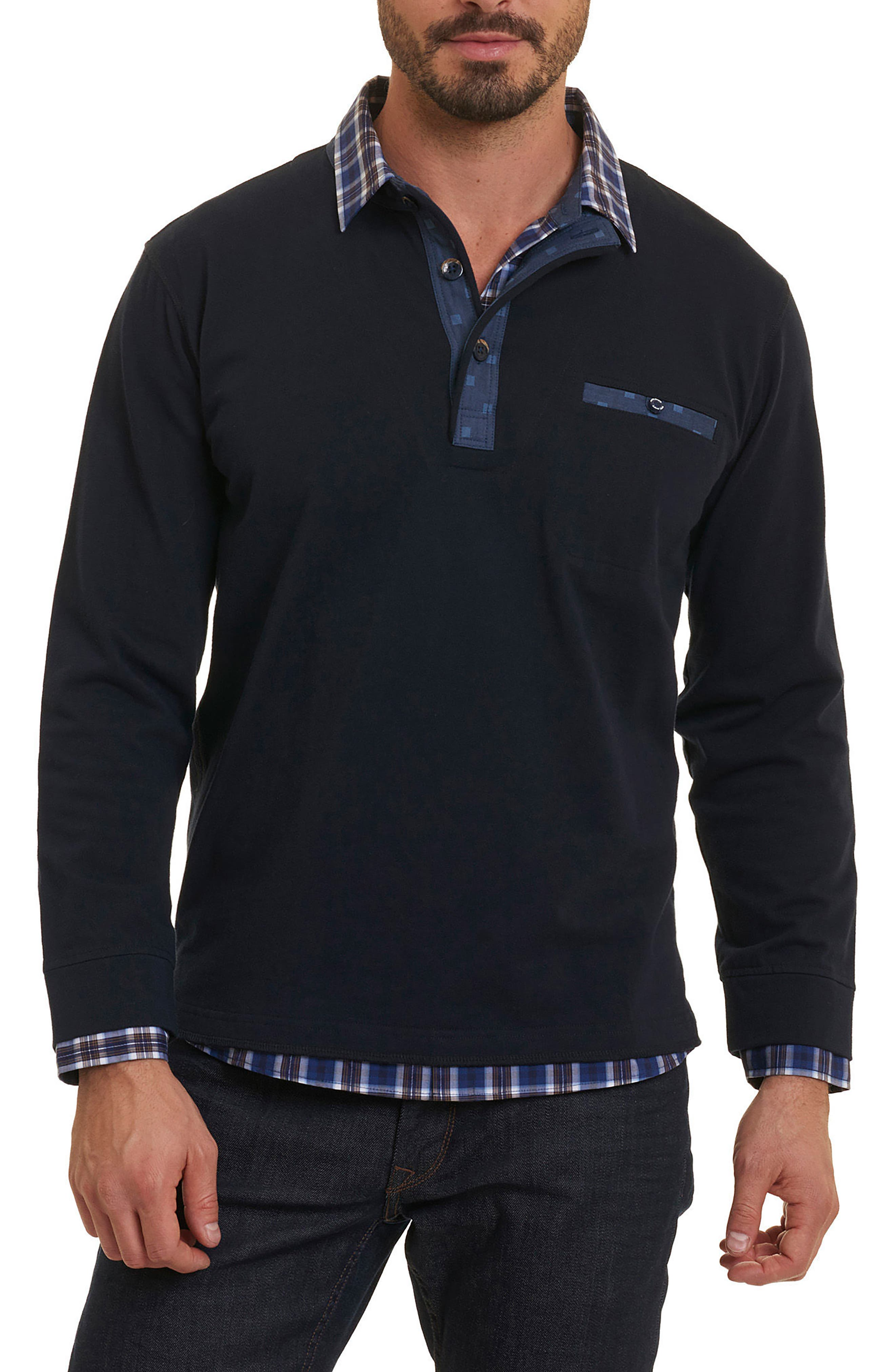 Alternate Image 1 Selected - Robert Graham Chancey Partial Button Pullover