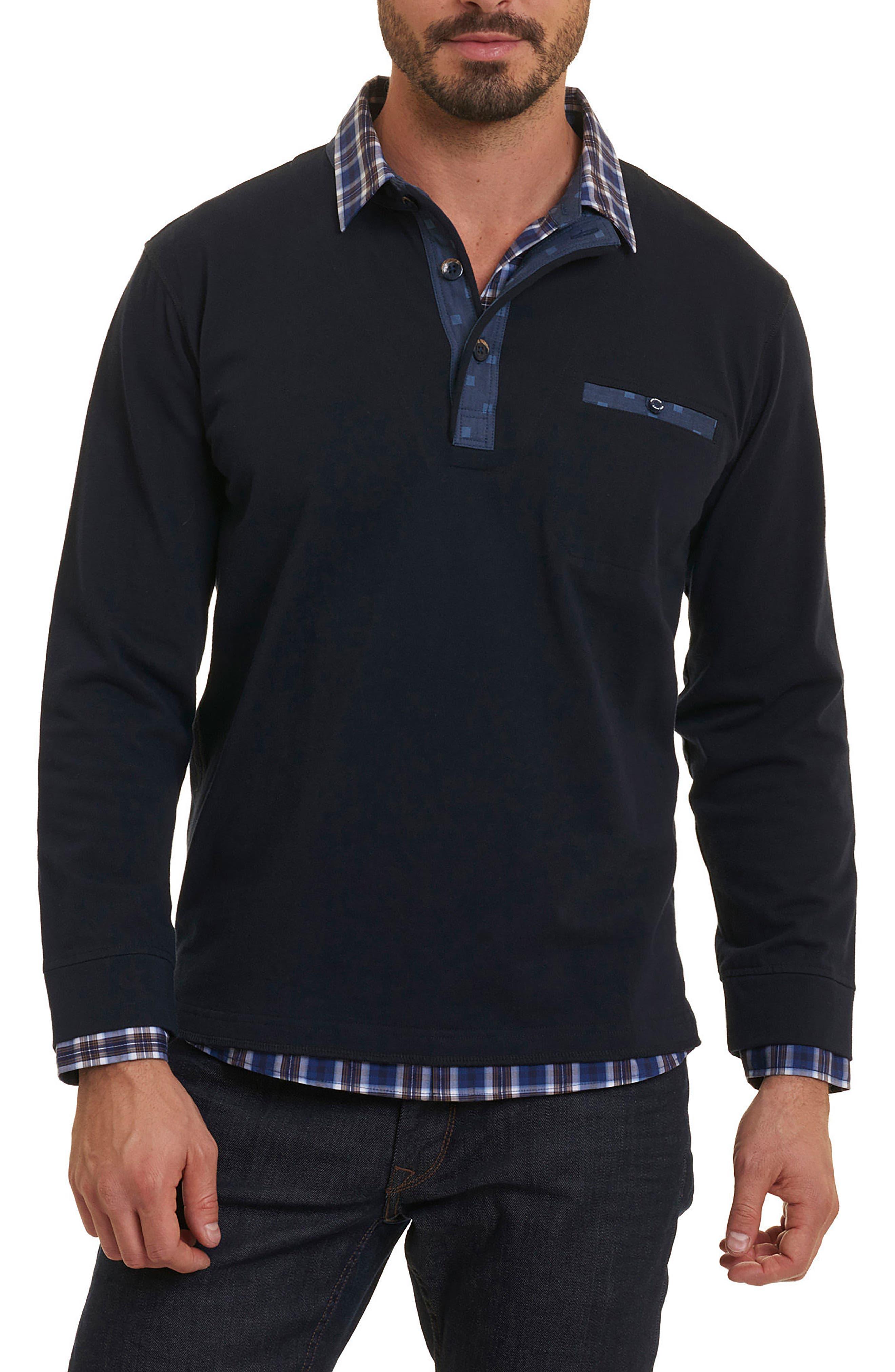 Robert Graham Chancey Partial Button Pullover