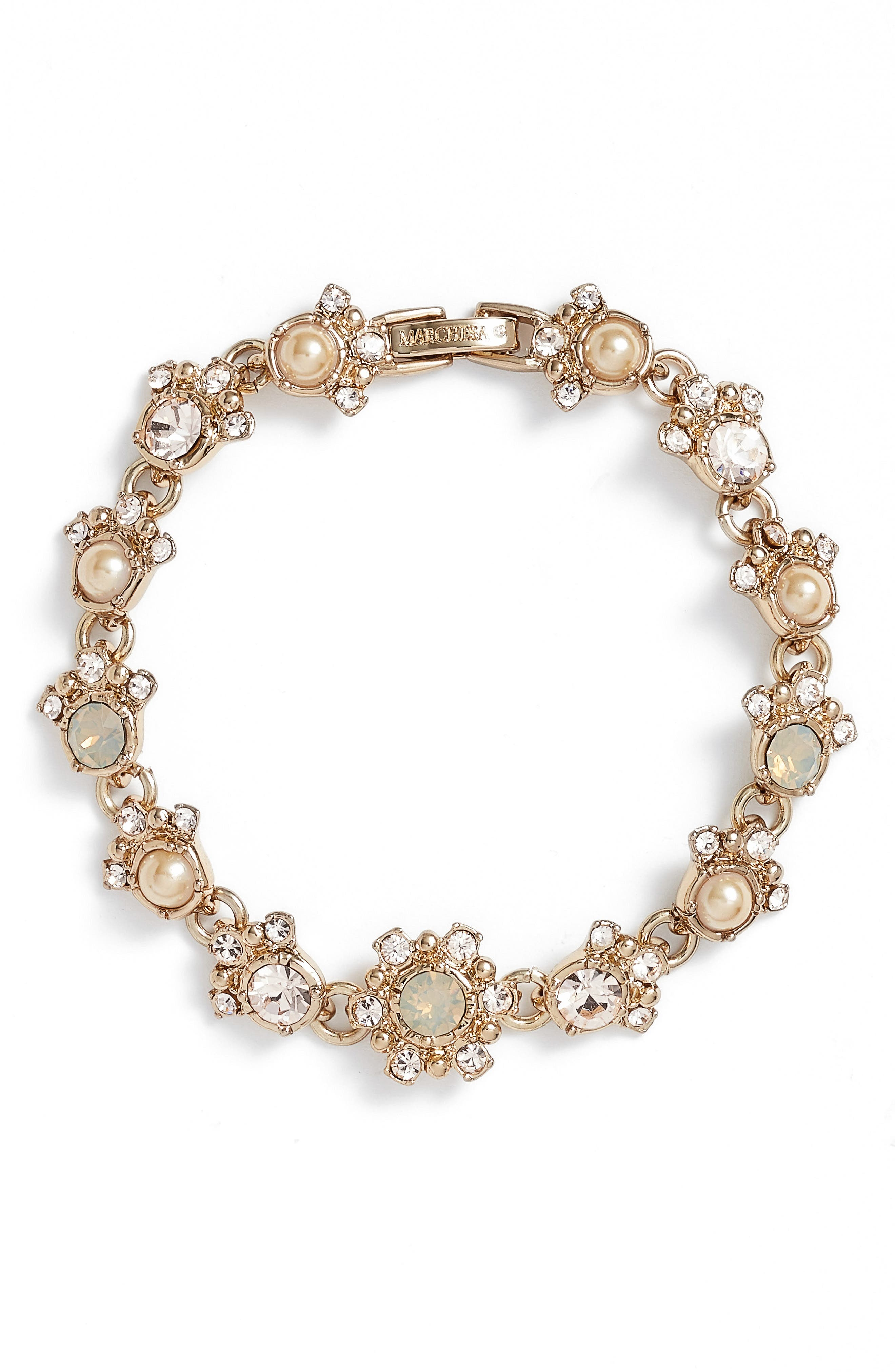 Line Bracelet,                         Main,                         color, Gold/ Grey Multi