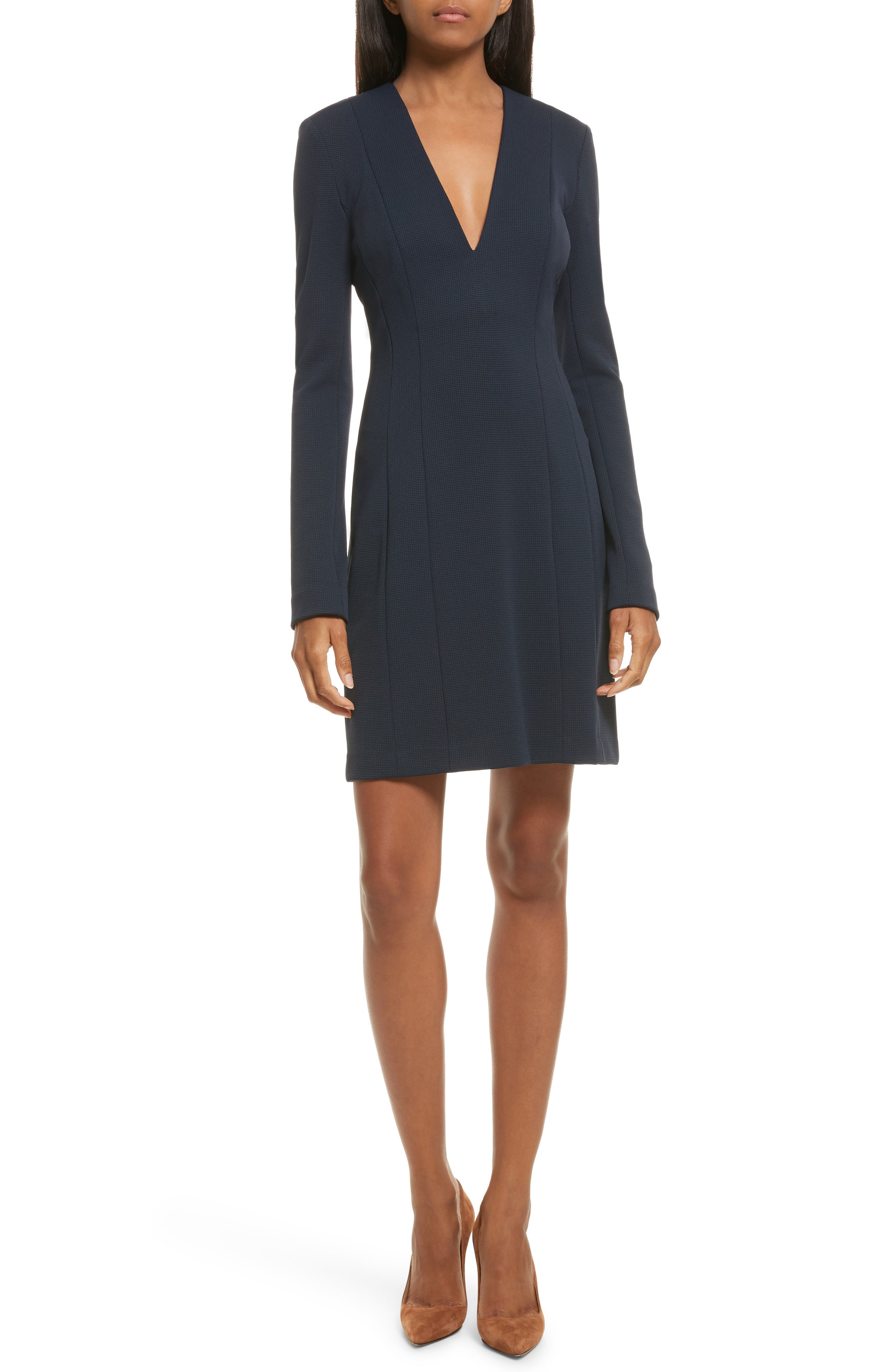 Tuscon Knit A-Line Dress,                         Main,                         color, Deep Navy