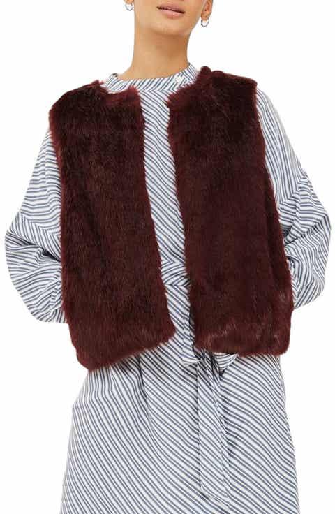 Topshop Clair Faux Fur Vest - Faux Fur Vest Nordstrom