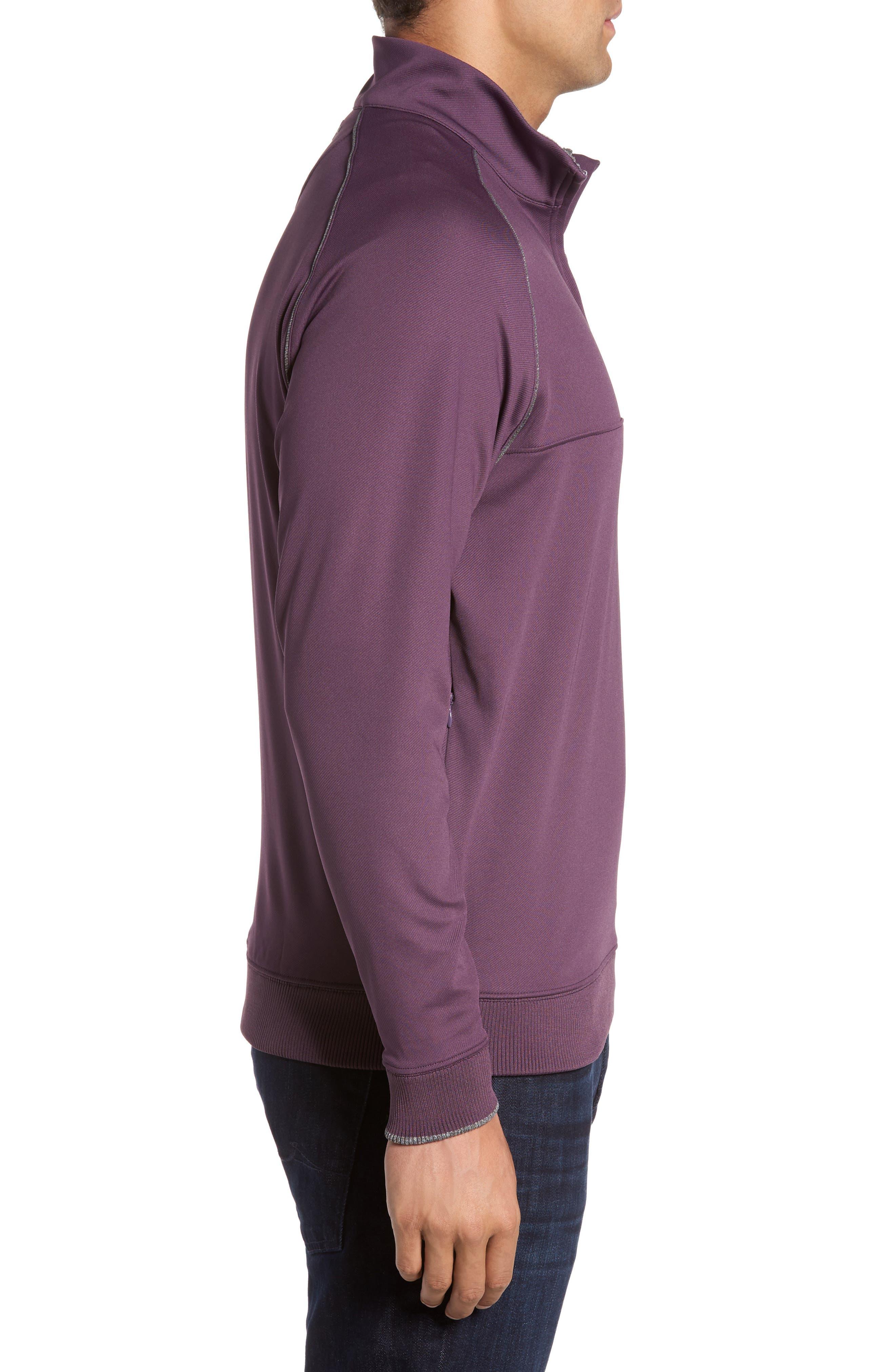 XH20 Banded Bottom Pullover,                             Alternate thumbnail 3, color,                             Blackberry