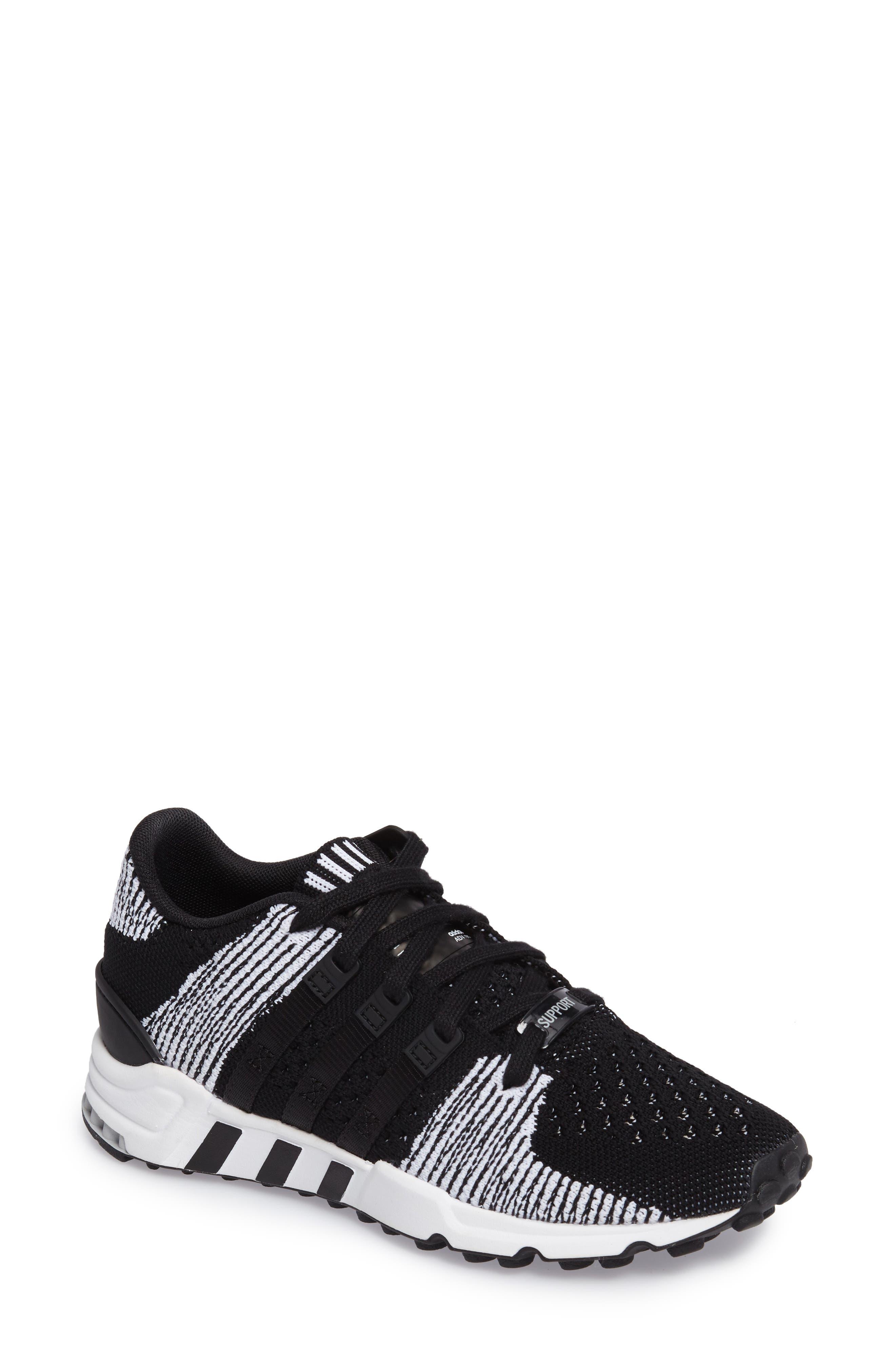 EQT Support RF PK Sneaker,                         Main,                         color, Core Black/ Core Black/ White