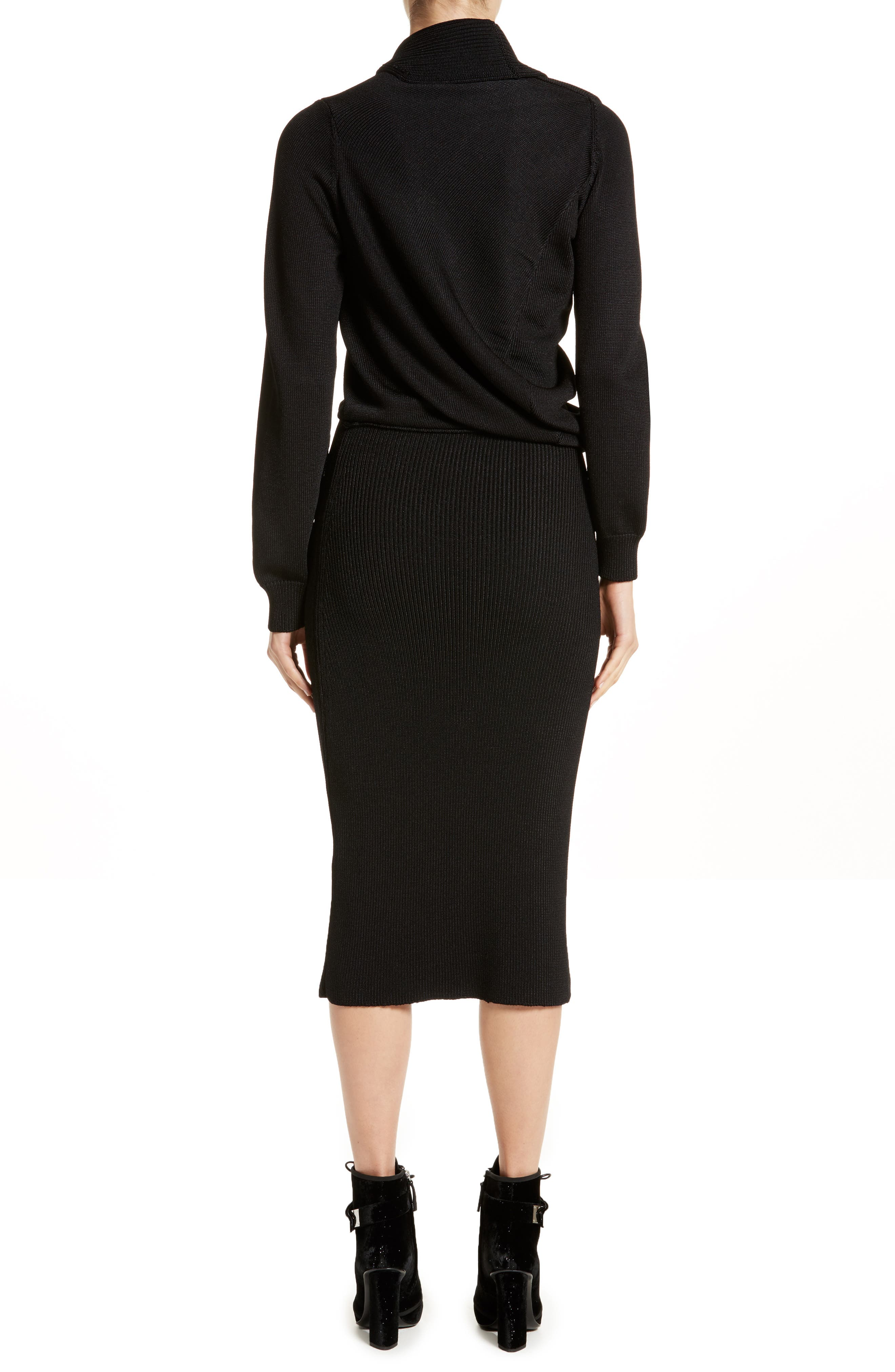 Alternate Image 2  - Atlein Drape Knit Dress